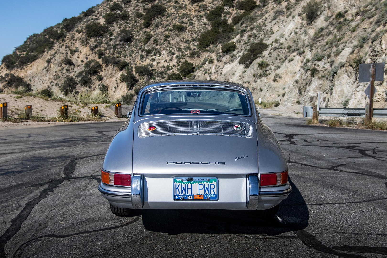 Electric Porsche 912 Rear View High Angle