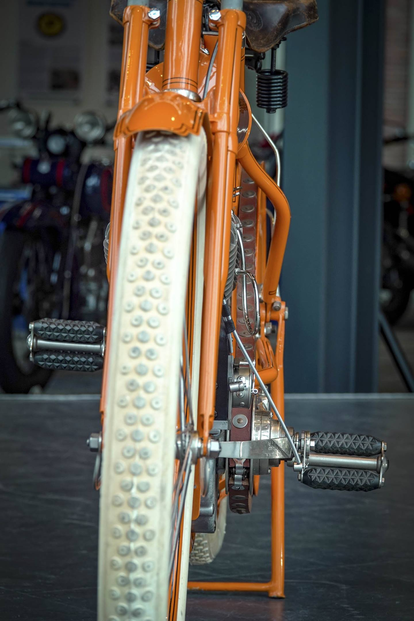 Flying Merkel motorcycle tire detail