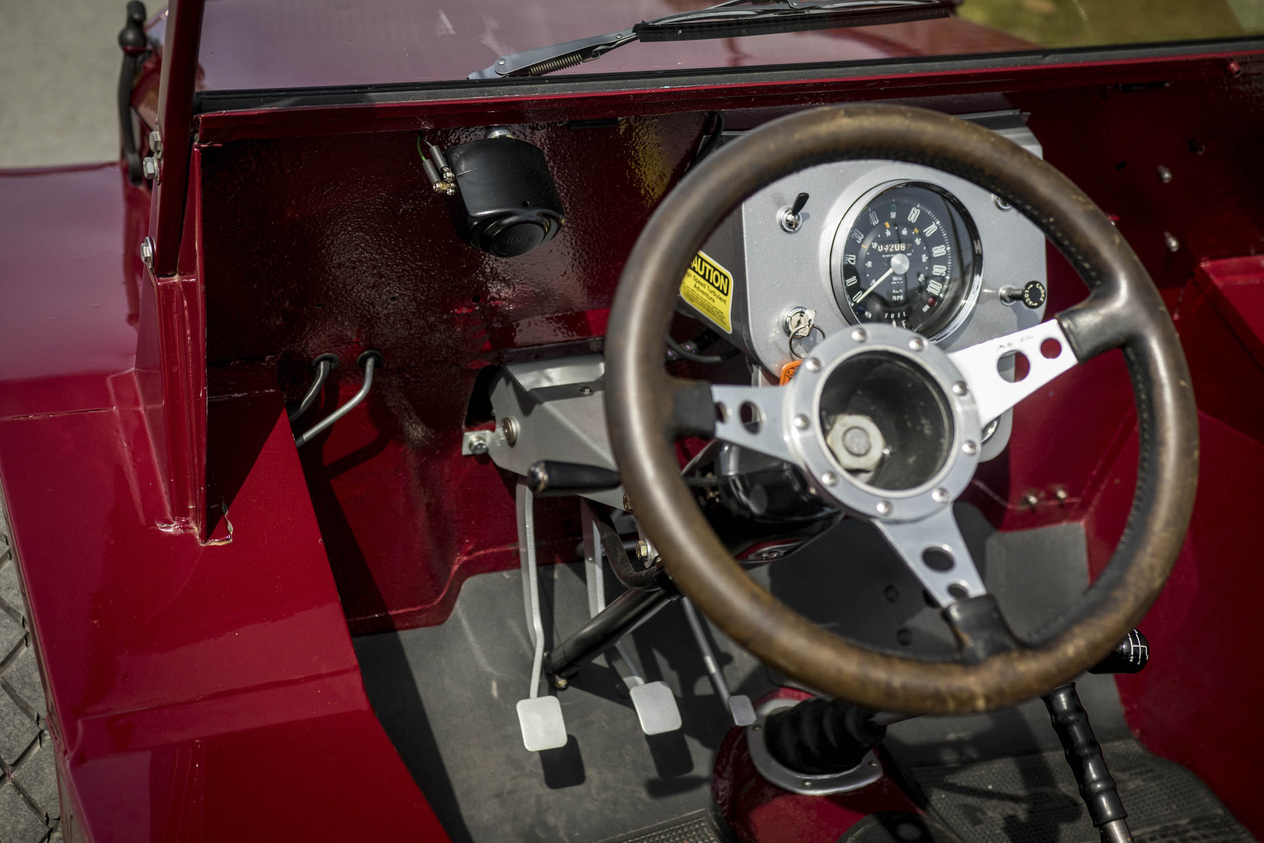 Even simpler than the Mini, everything's on display in a Moke. Driving one has you hunching over like a chimpanzee, but it is endless fun.