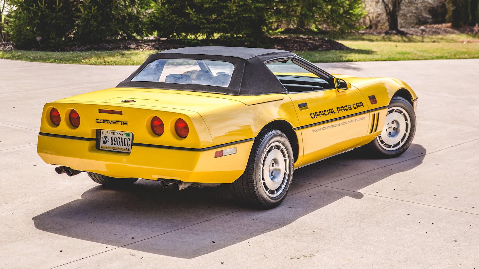 1986 Chevrolet Corvette Pace Car Edition Rear 3/4