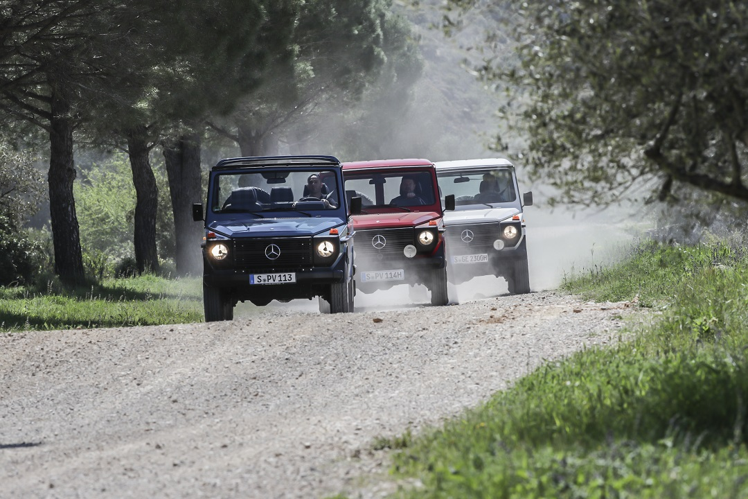 G-wagen dirt road