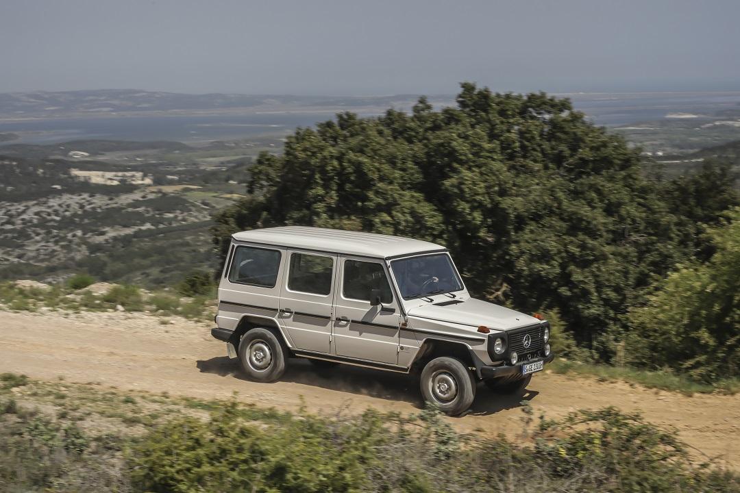 Mercedes-Benz G-wagen white dirt road