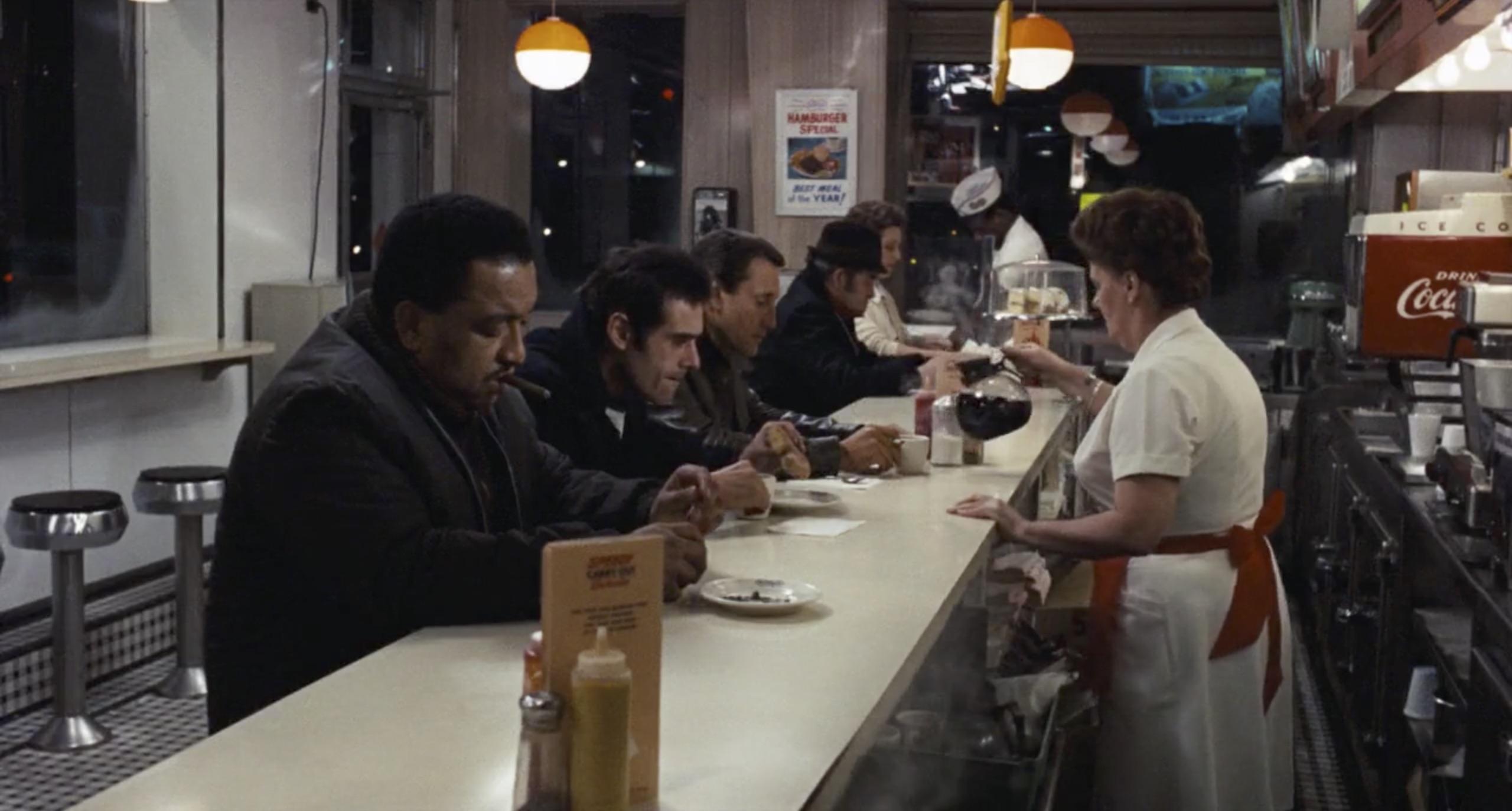 the seven ups police in diner