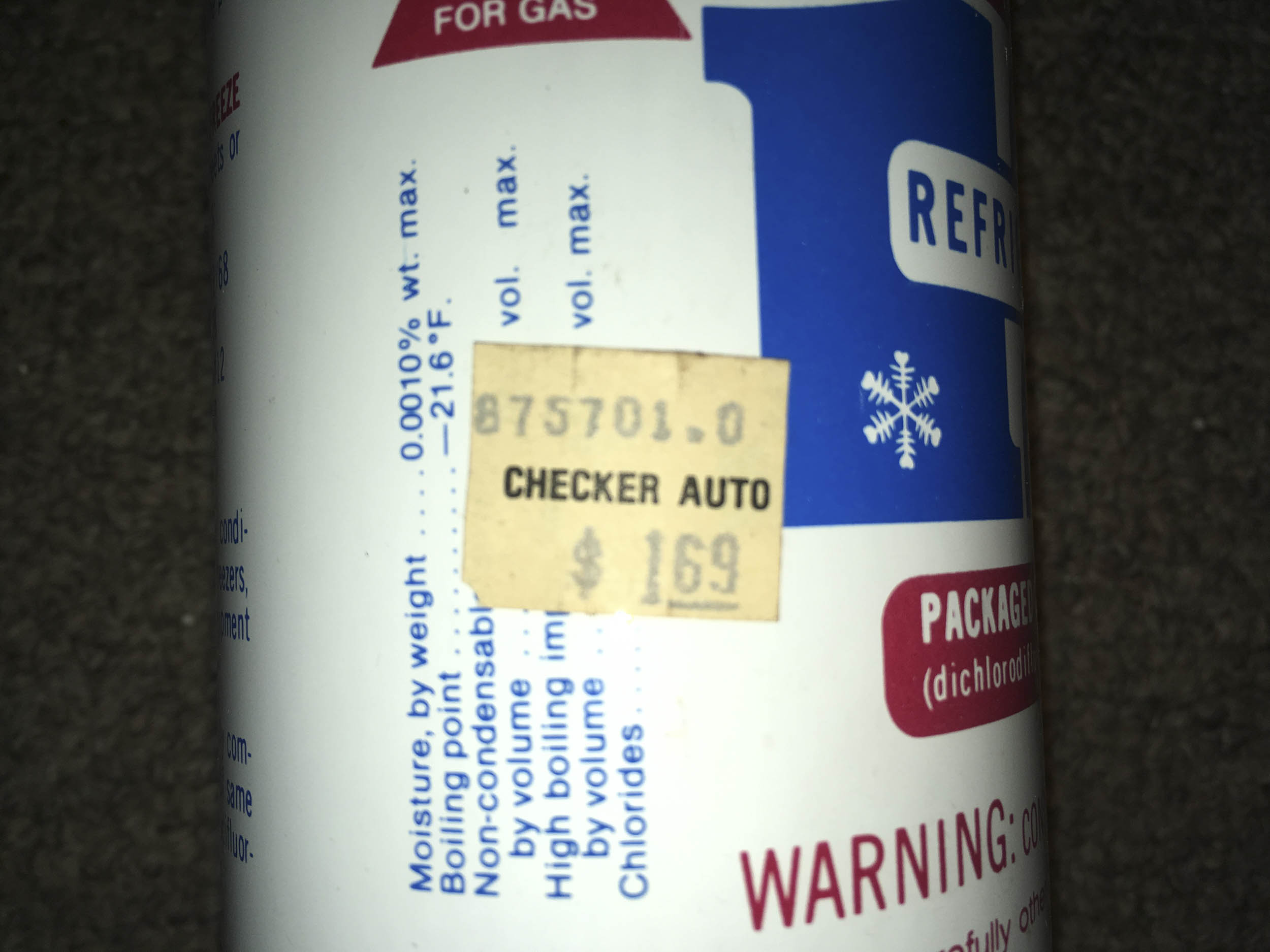 Nothing says New Old Stock (NOS) on a can of R12 like a  alt=