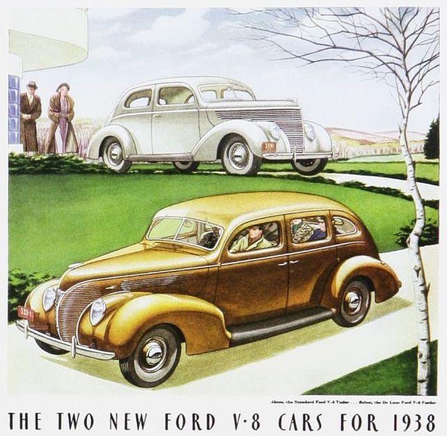 1938 Ford Fordor Sedan Yellow Ad