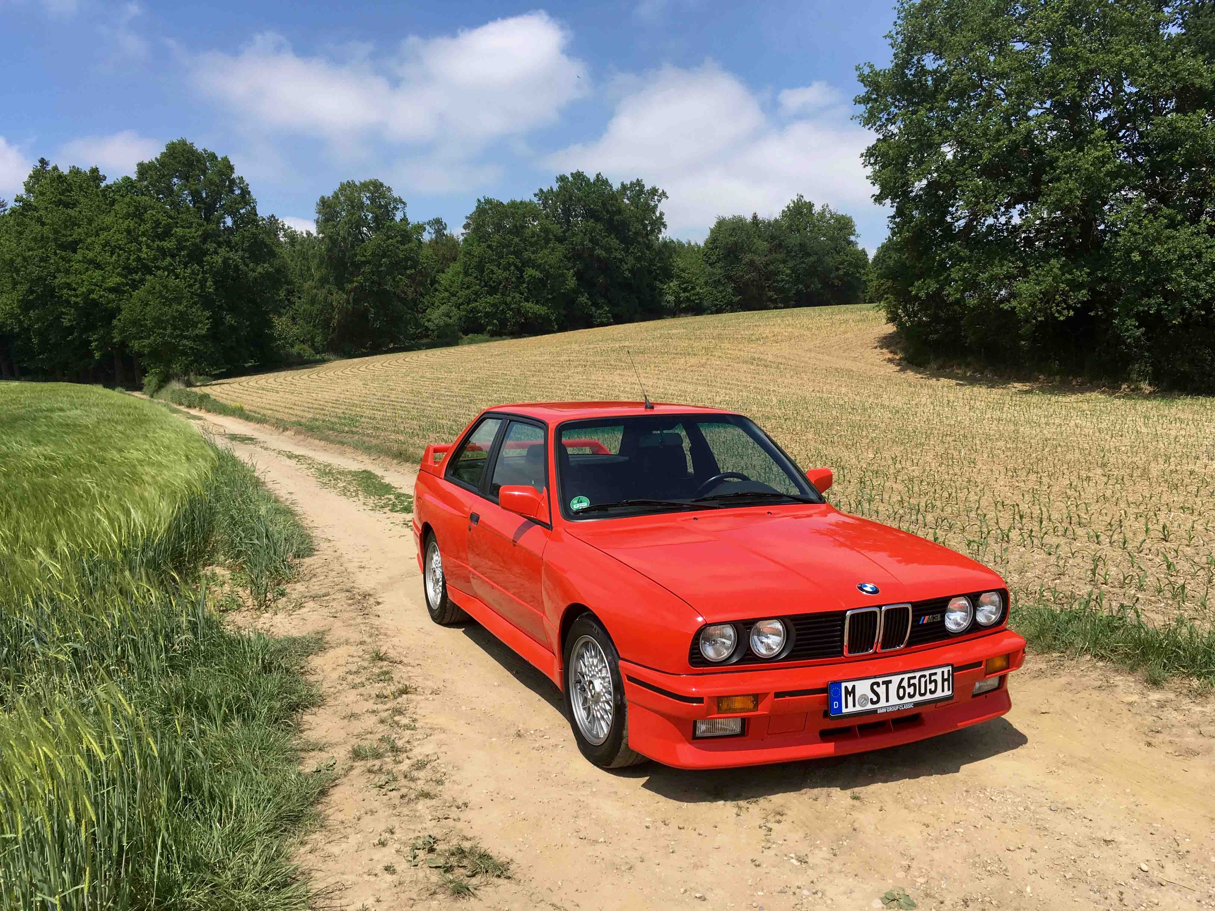 1987 BMW M3 Dirt Road 3/4 front