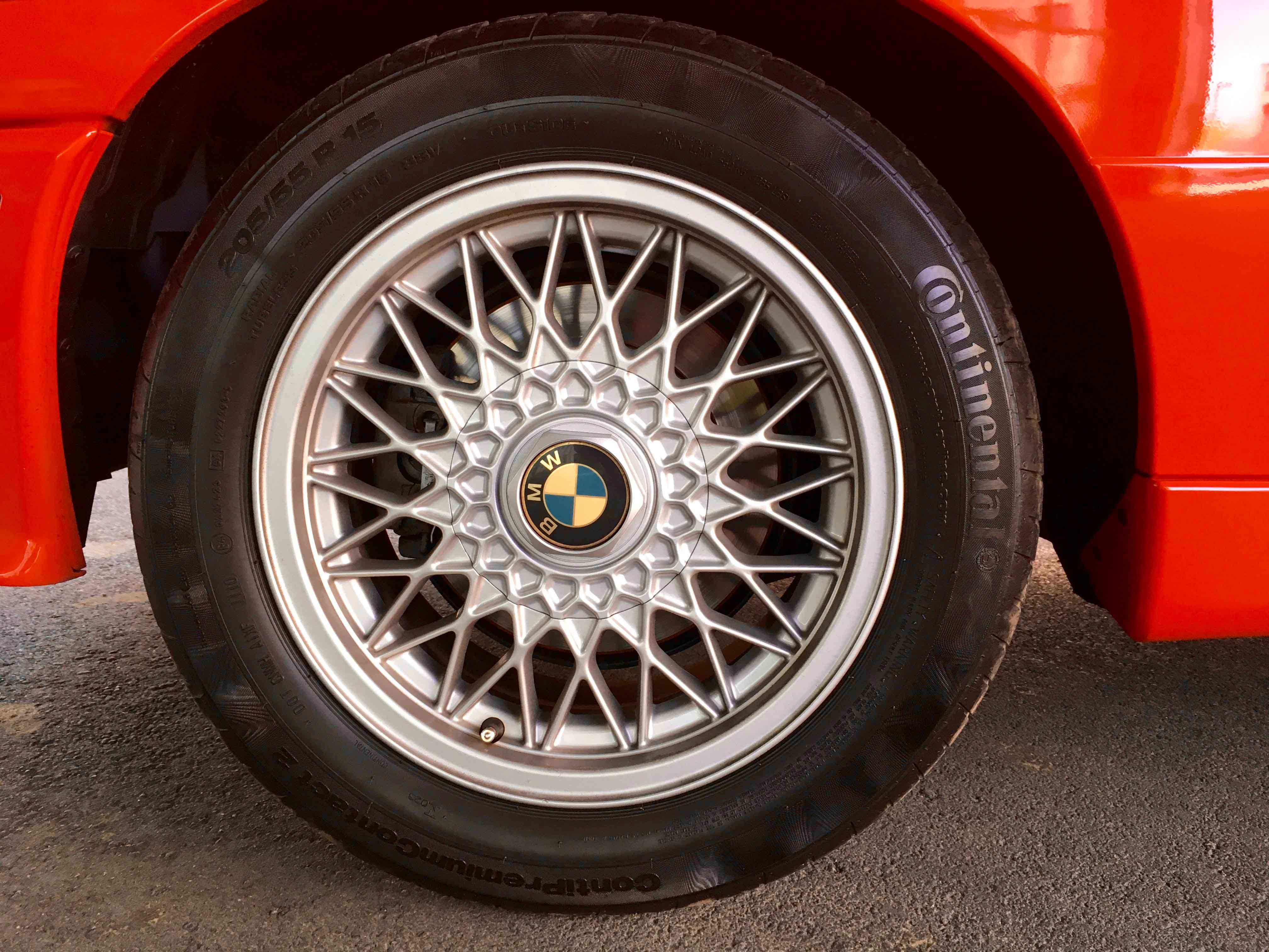 1987 BMW M3 Rear tire and rim