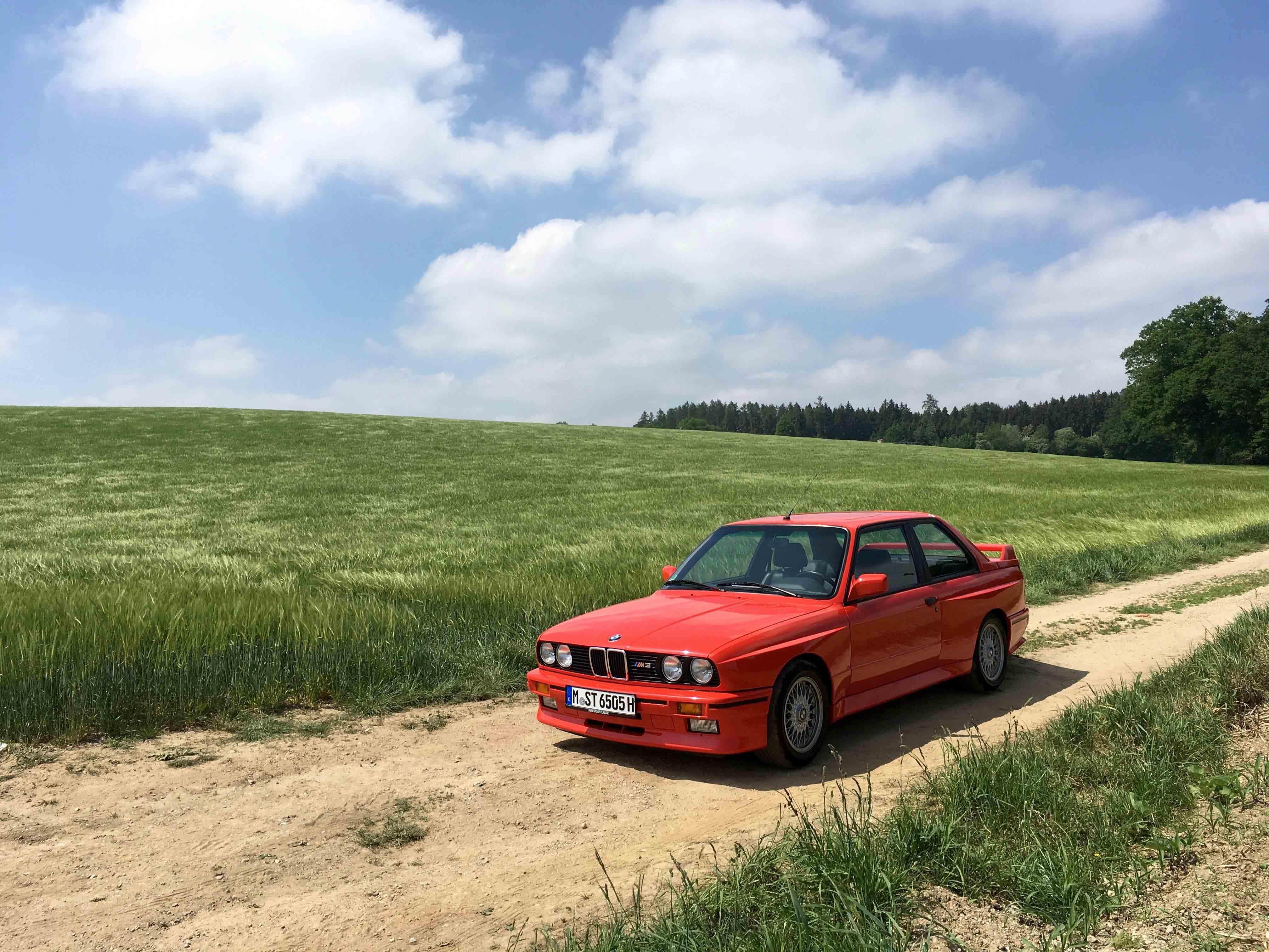 1987 BMW M3 Dirt Road Green Field