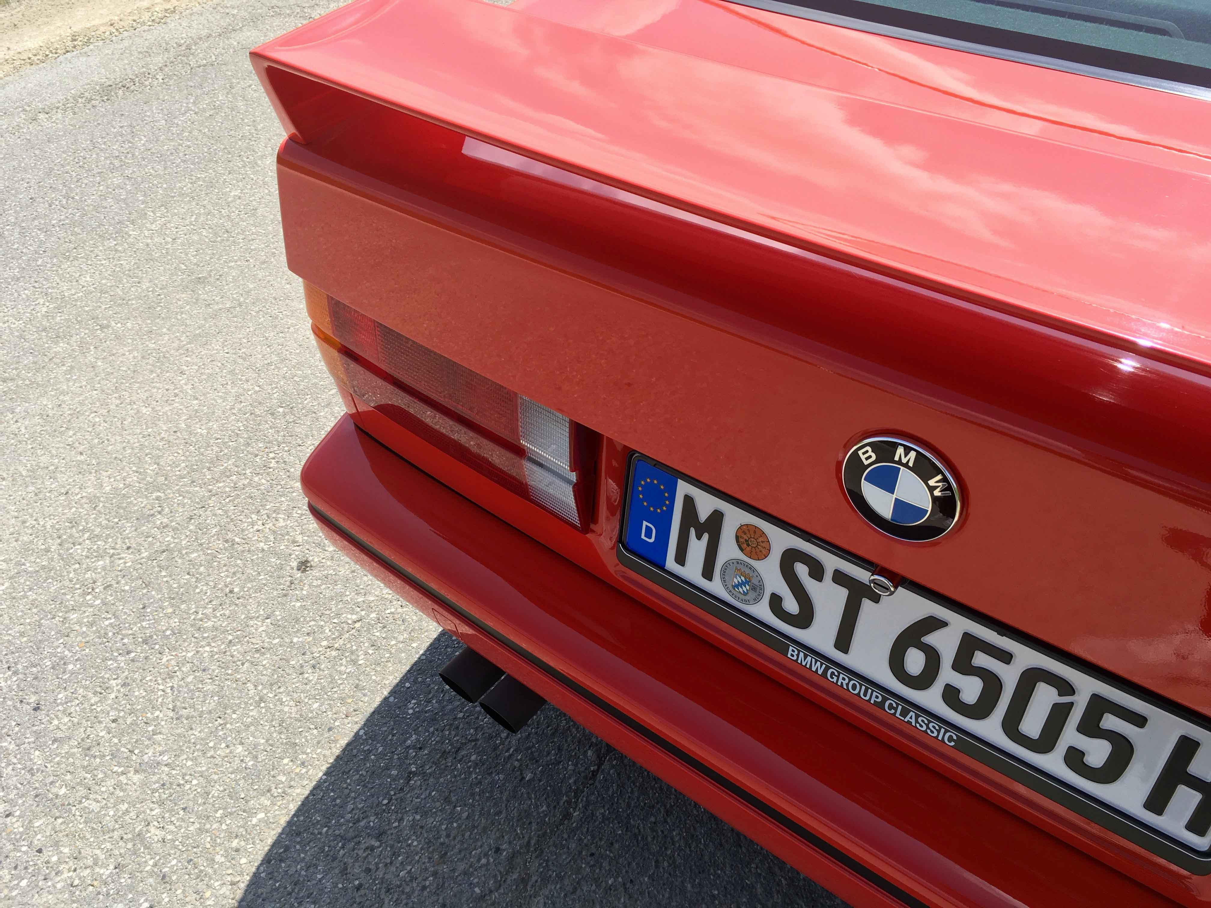 1987 BMW M3 License plate and badge