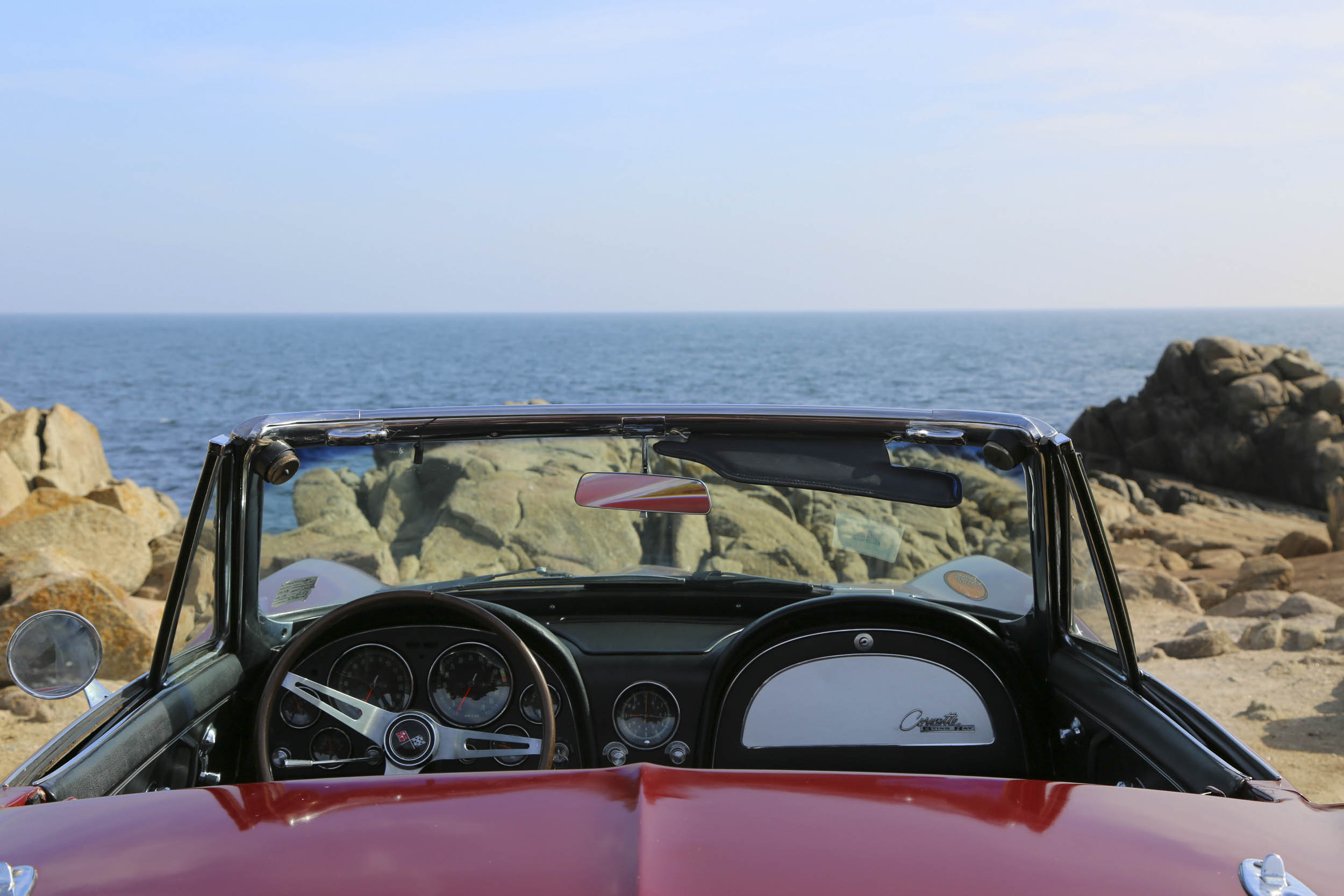 1965 Chevrolet Corvette view out the windshield