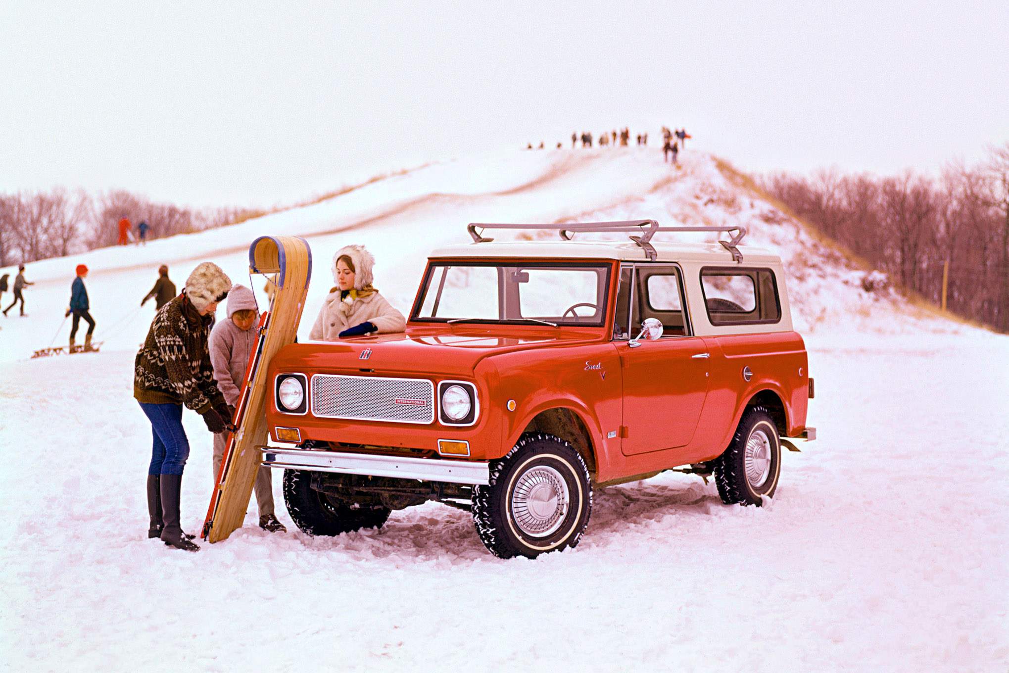 International Scout winter sled