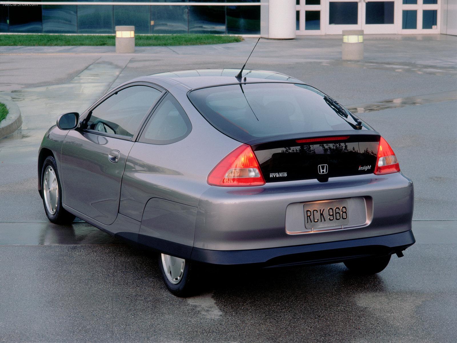 2000 Honda Insight rear 3/4