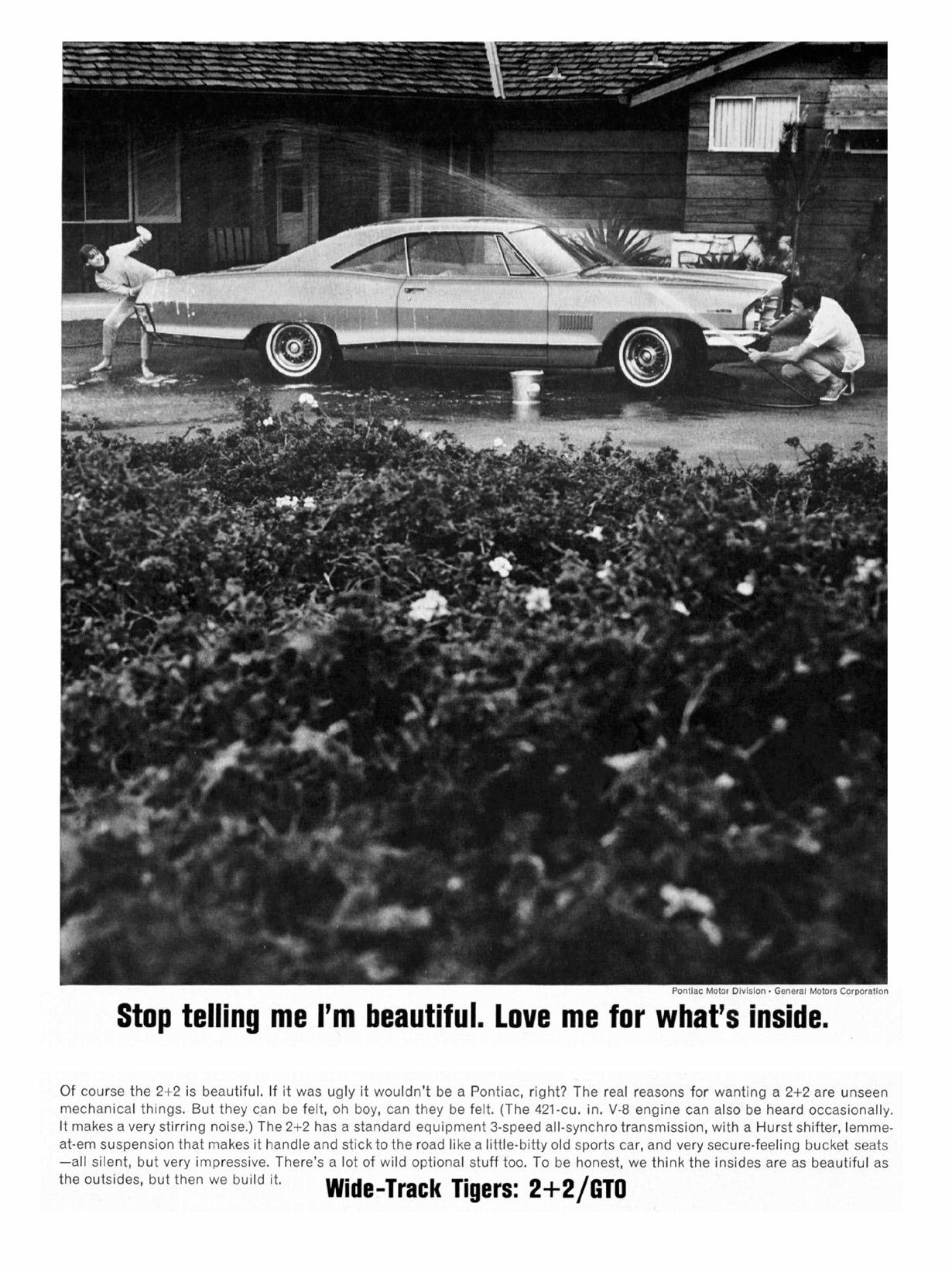 Pontiac 2+2 Ad black and white
