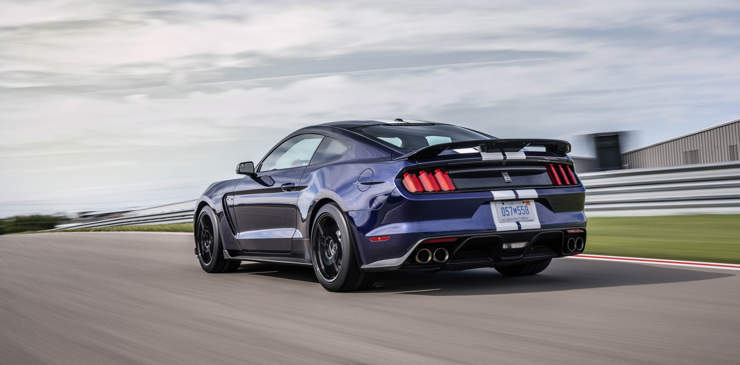 2019 Shelby GT350 rear 3/4 racing on the track