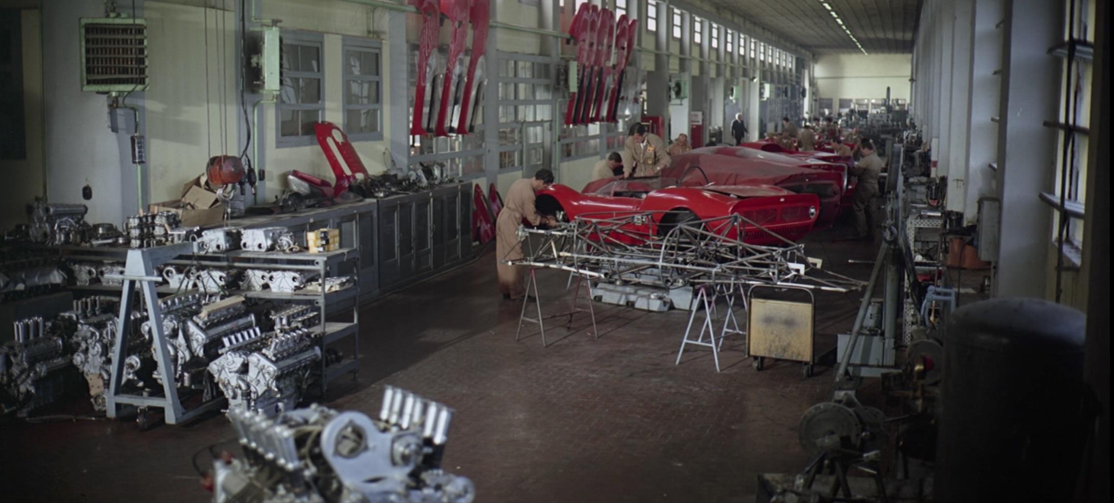 Grand Prix Ferrari race cars being built