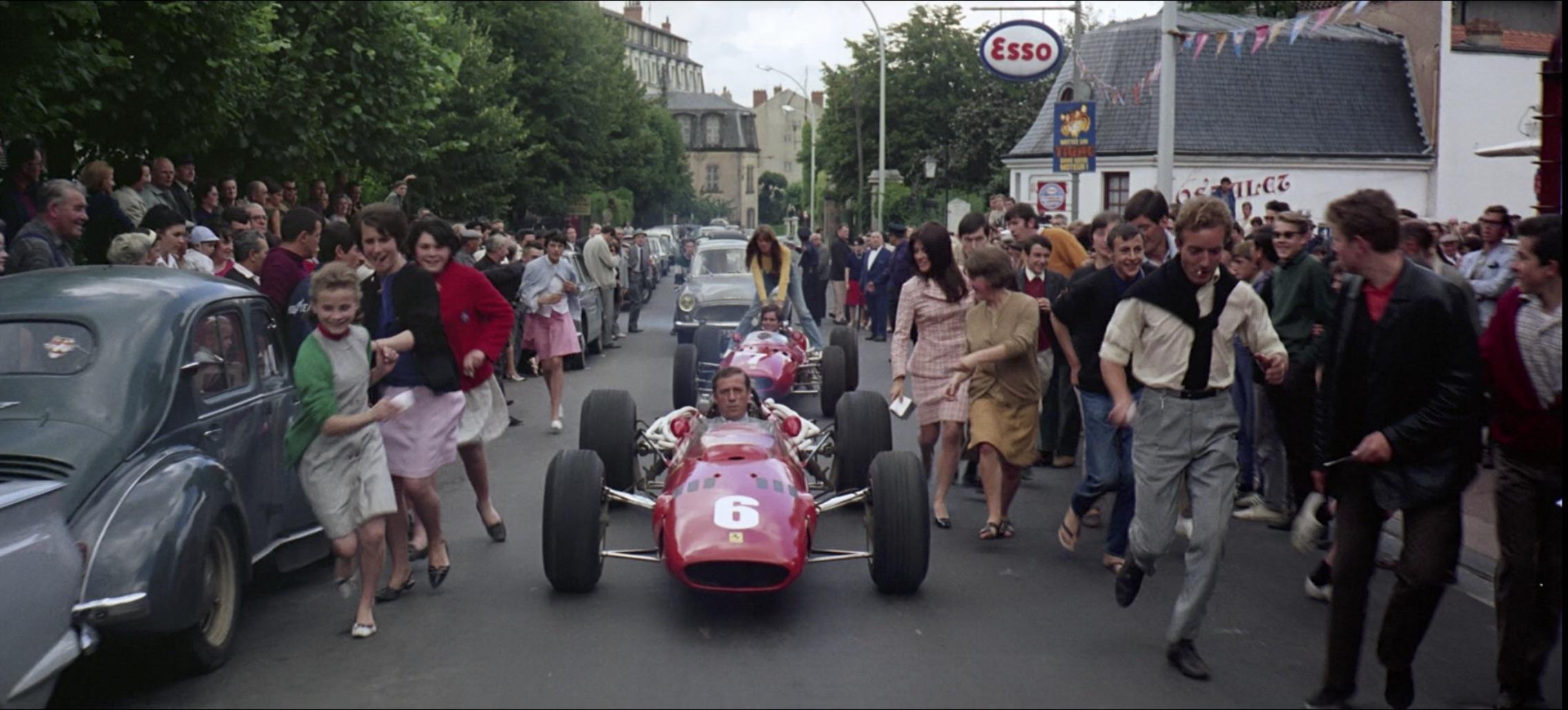 Grand Prix Ferrari race car on streets