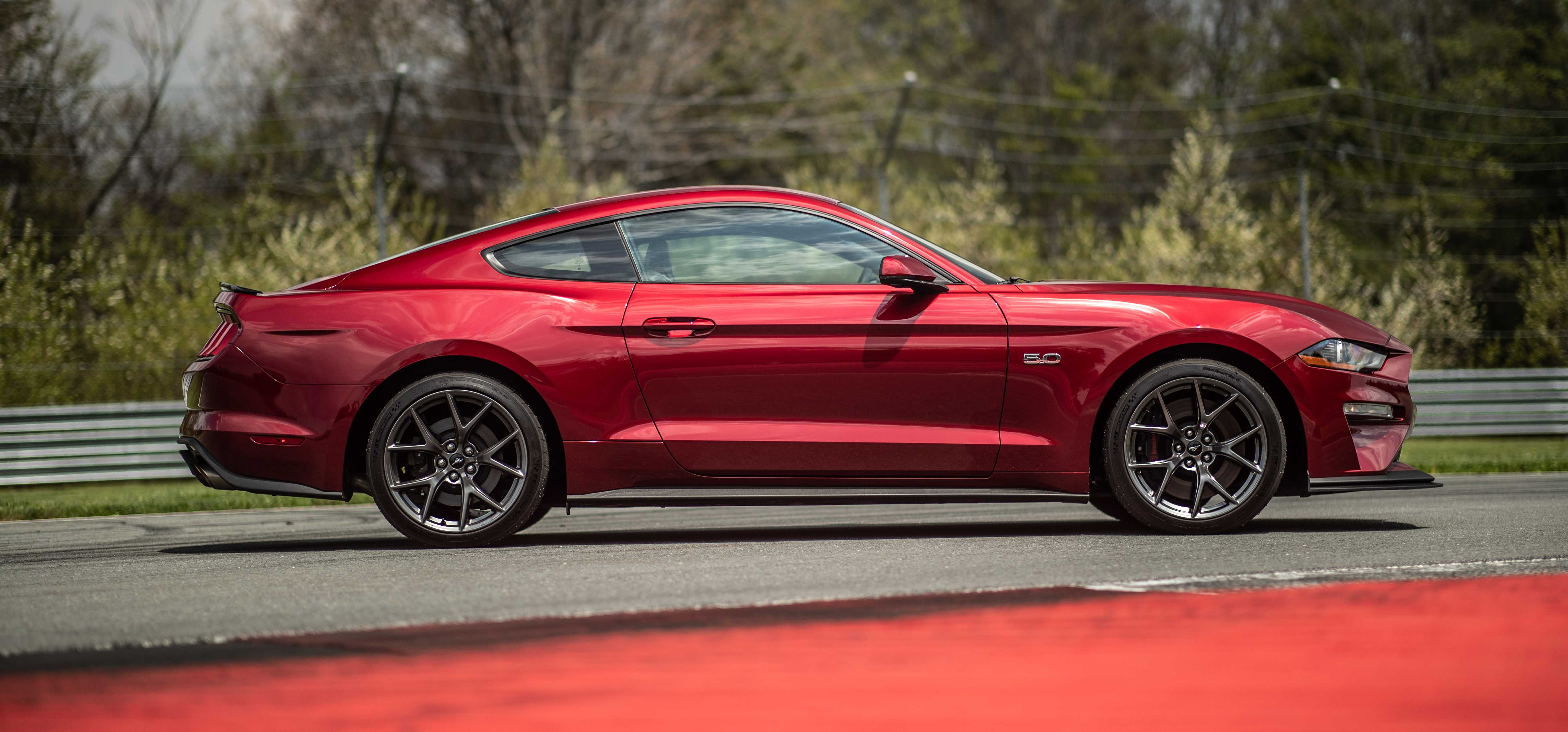 2018 Ford Mustang GT Performance Pack 2 red side shot