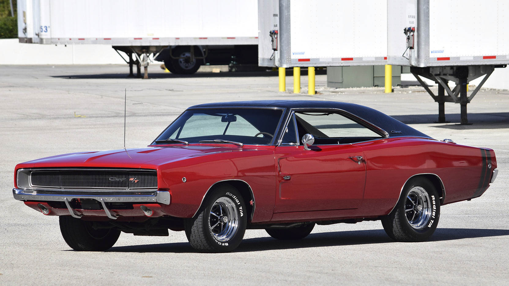 red 1968 Dodge Charger R/T front 3/4