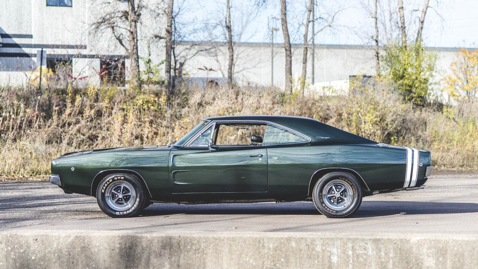 green 1968 Dodge Charger R/T profile