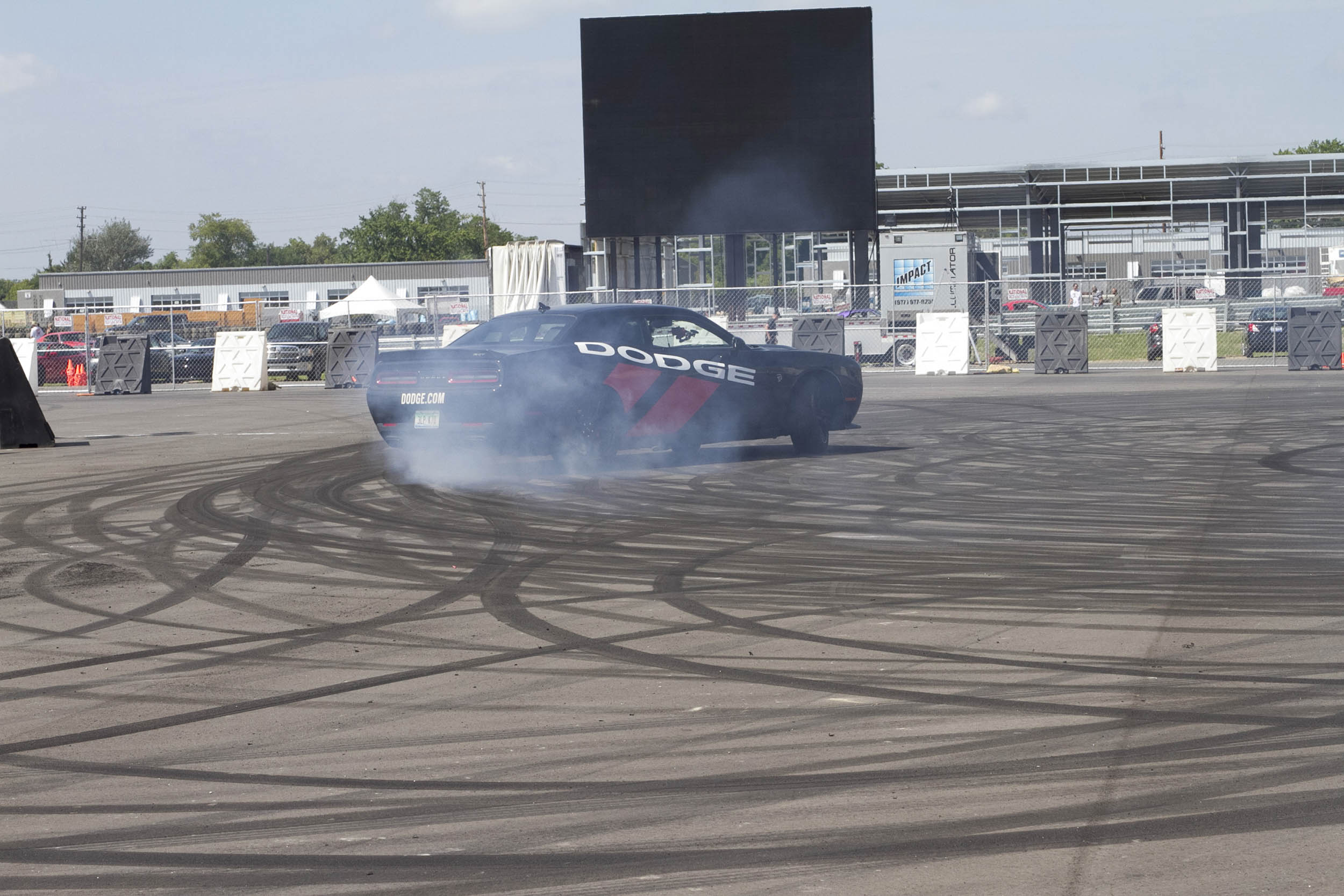 Roadkill Nights Powered by Dodge doughnut competition