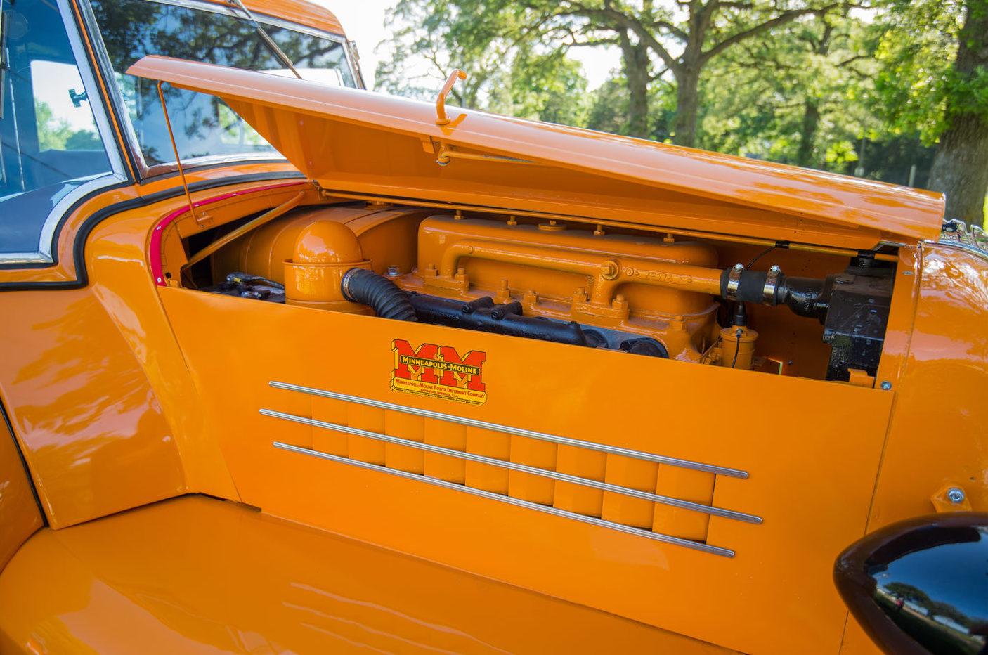 1938 Minneapolis-Moline ULDX Comfortractor Engine passenger side