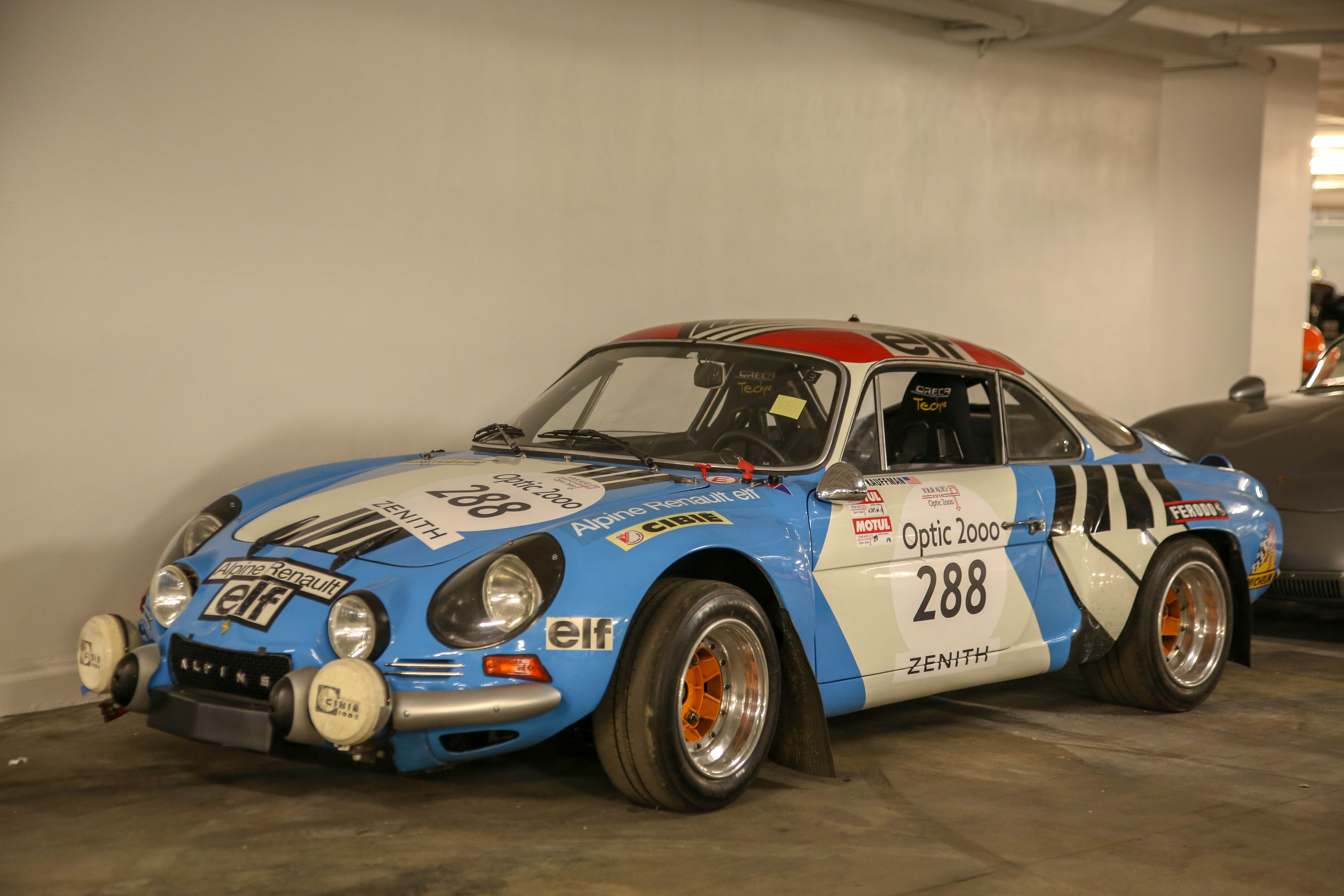 petersen vault renault alpine rally car