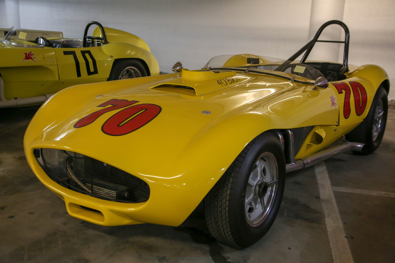 petersen vault yellow race car