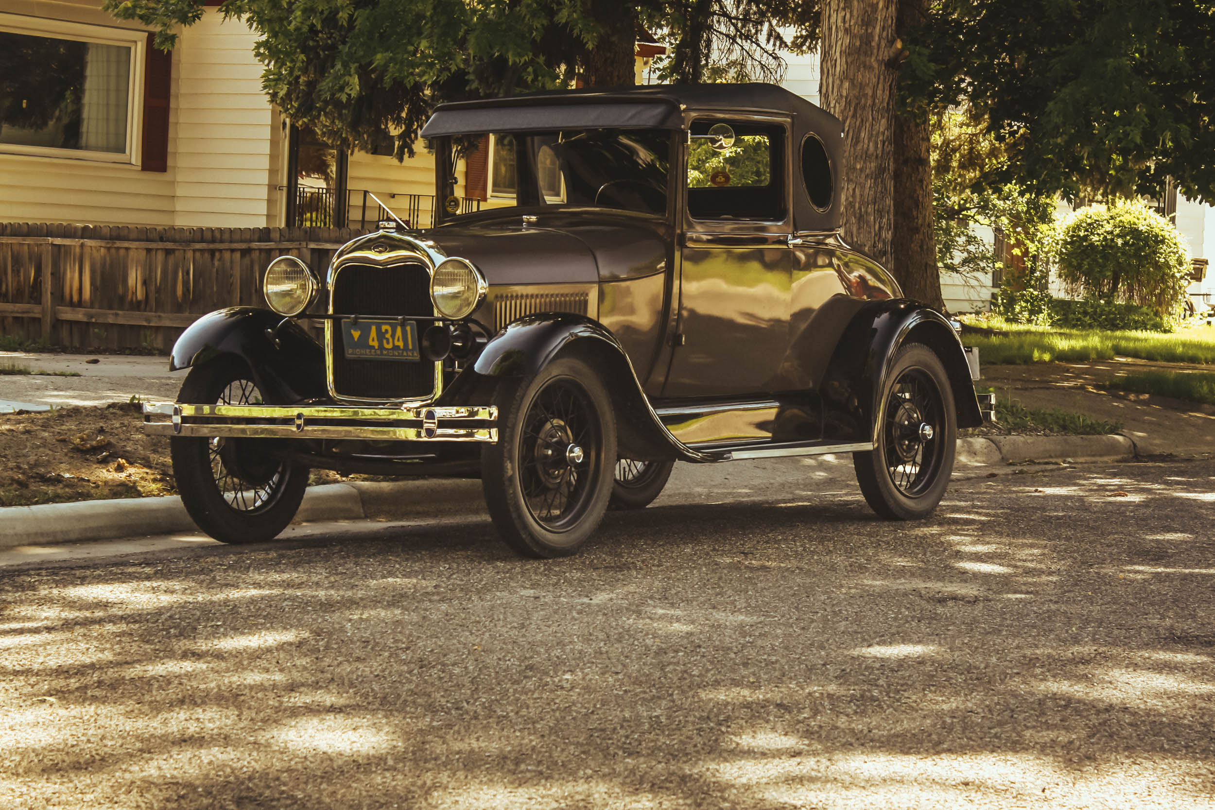 1929 ford model a business coupe profile