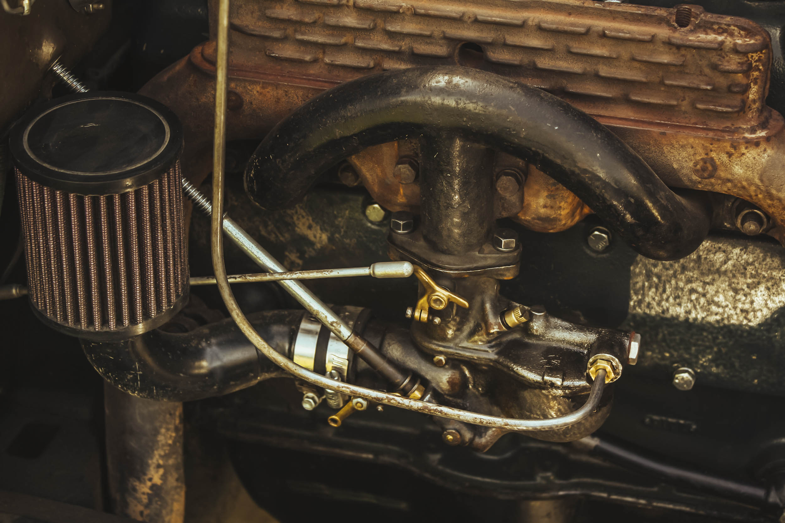 ford model a engine close up