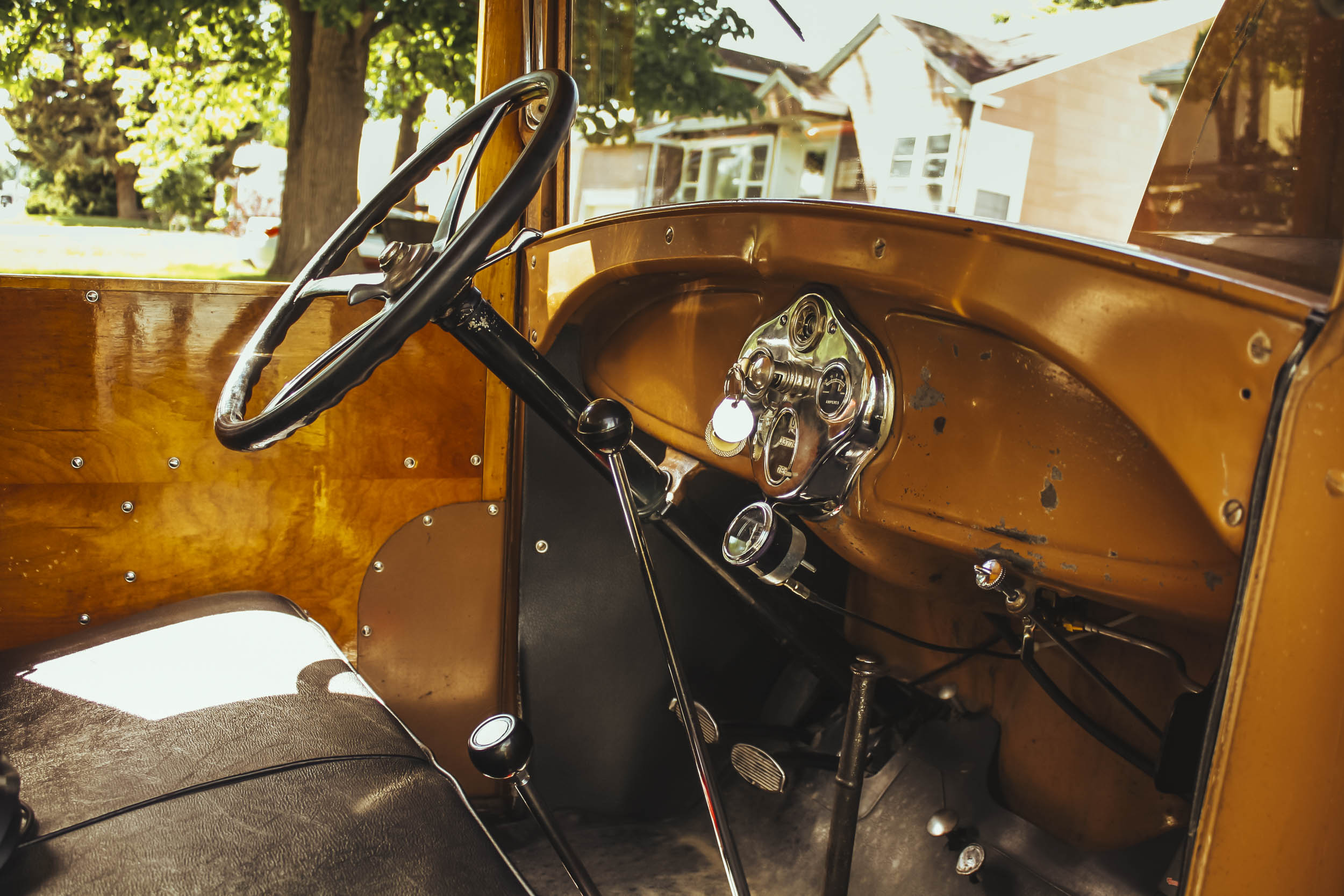 1929 woody model a front interior