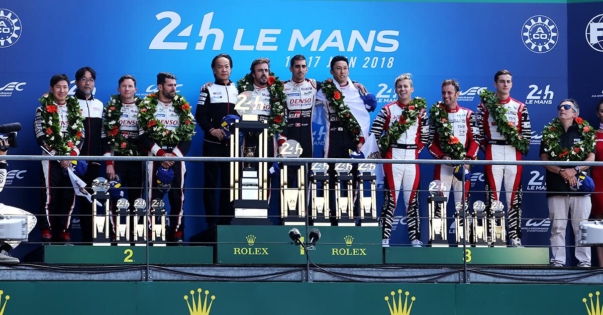 24 hours of Le Mans podium