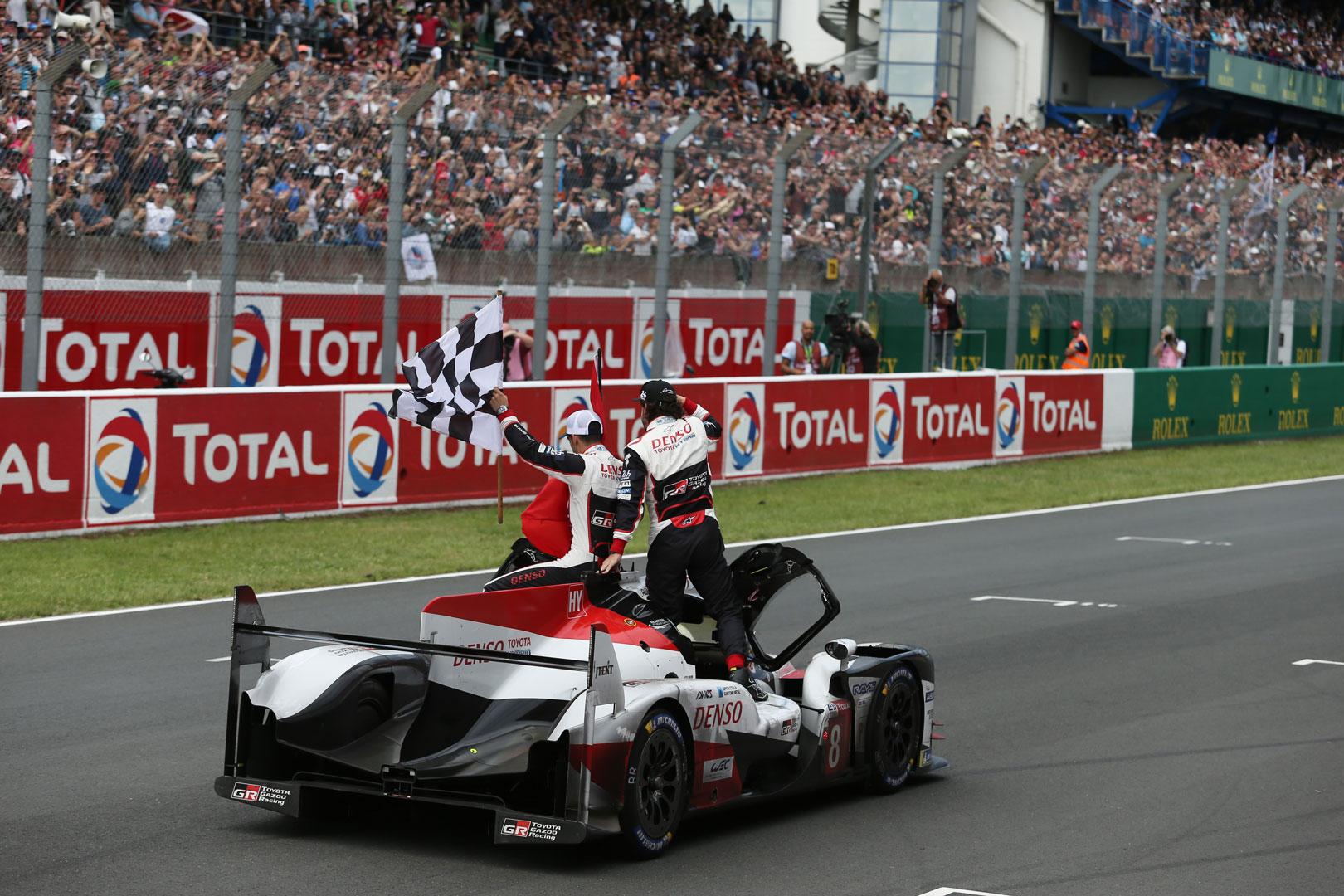 Toyota Gazoo Racing Le Mans victory lap