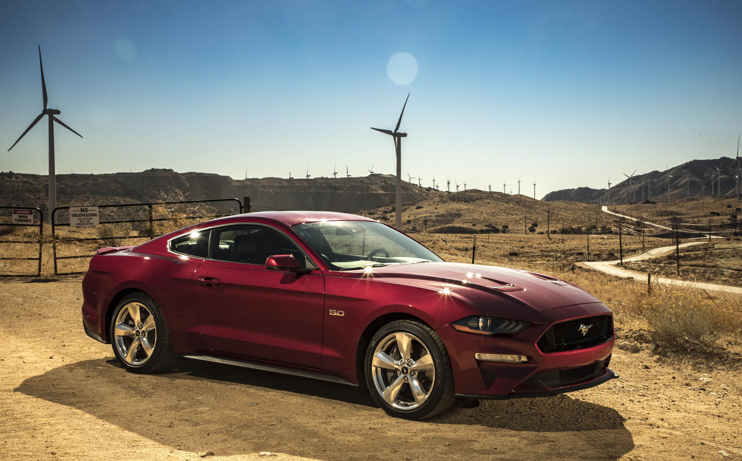 2018 Ford Mustang GT front 3/4
