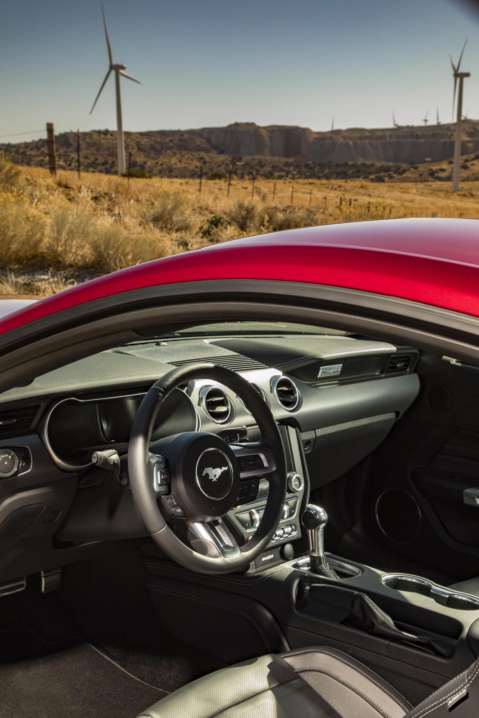 2018 Ford Mustang GT through window interior