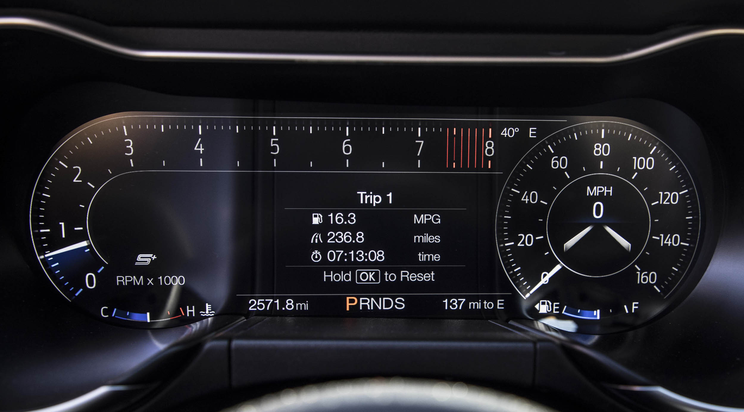 2018 Ford Mustang GT gauge cluster
