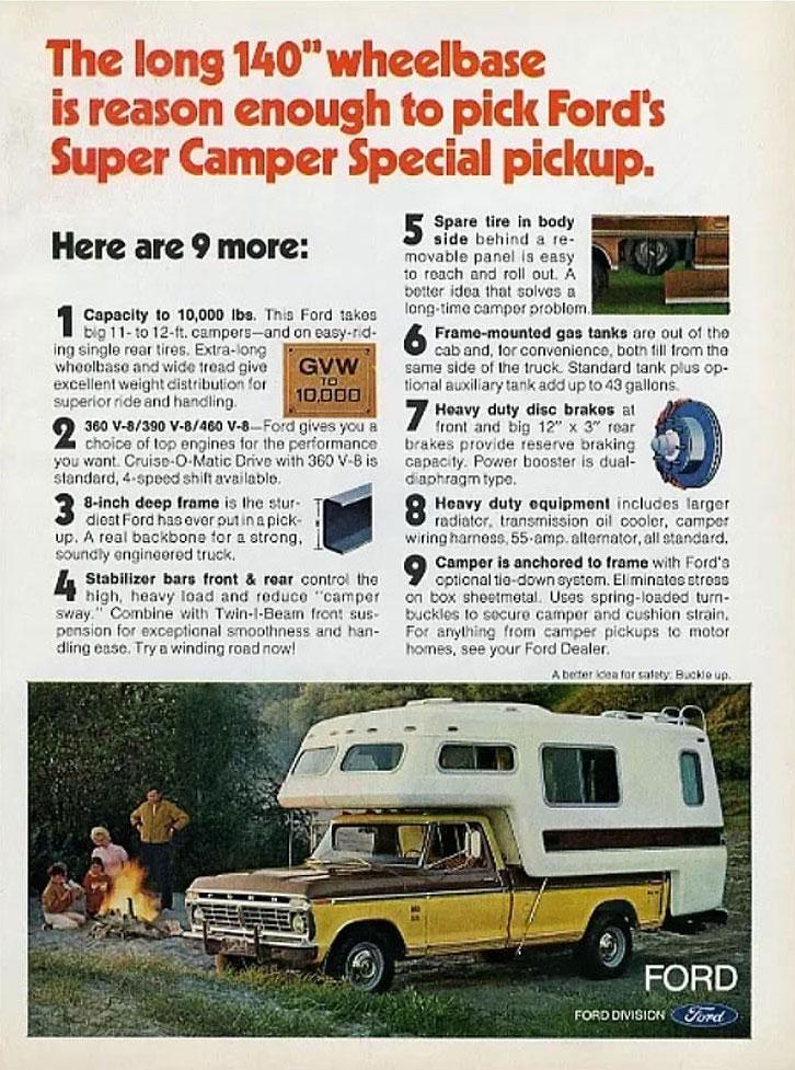 Ford F350 Super Camper Advertisement