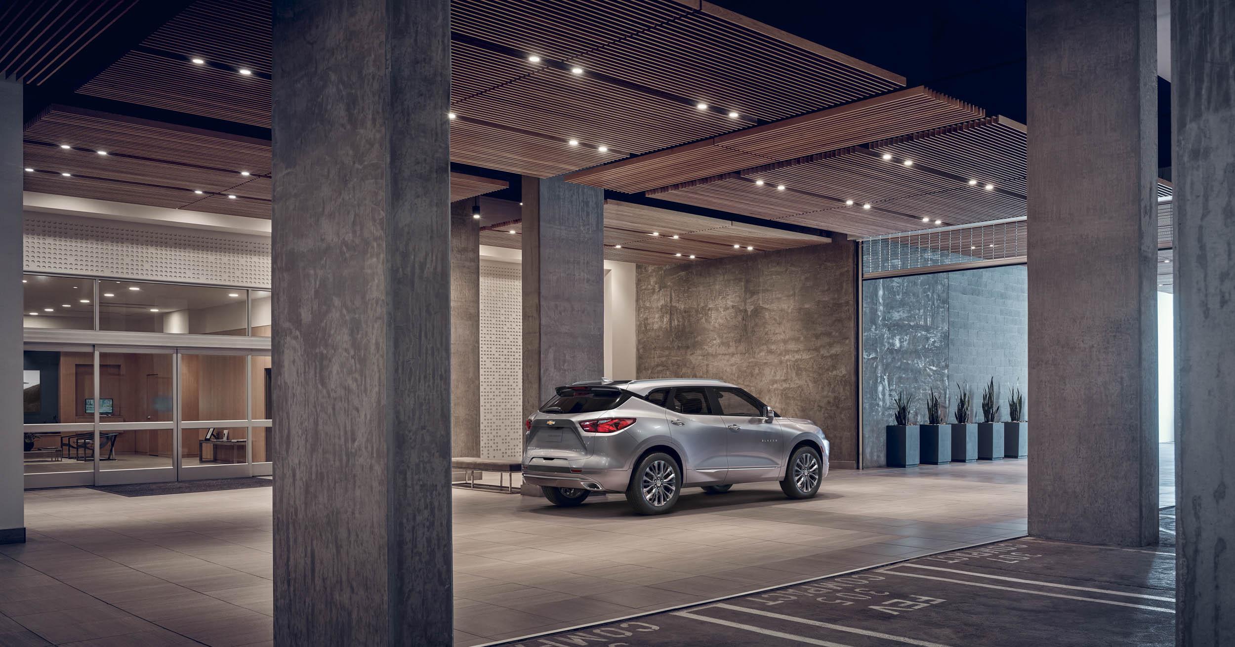 2019 Chevrolet Blazer rear 3/4 in a lobby
