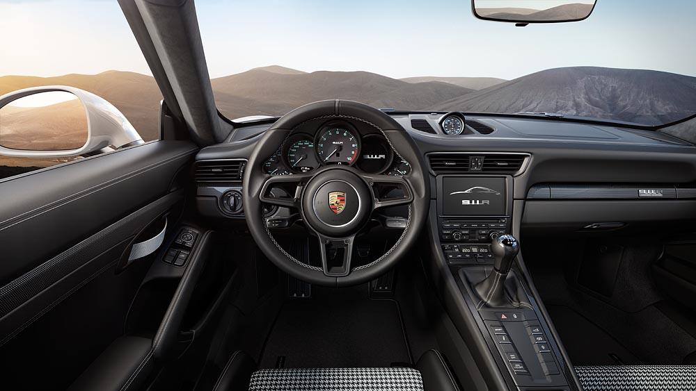 porsche houndstooth interior steering wheel