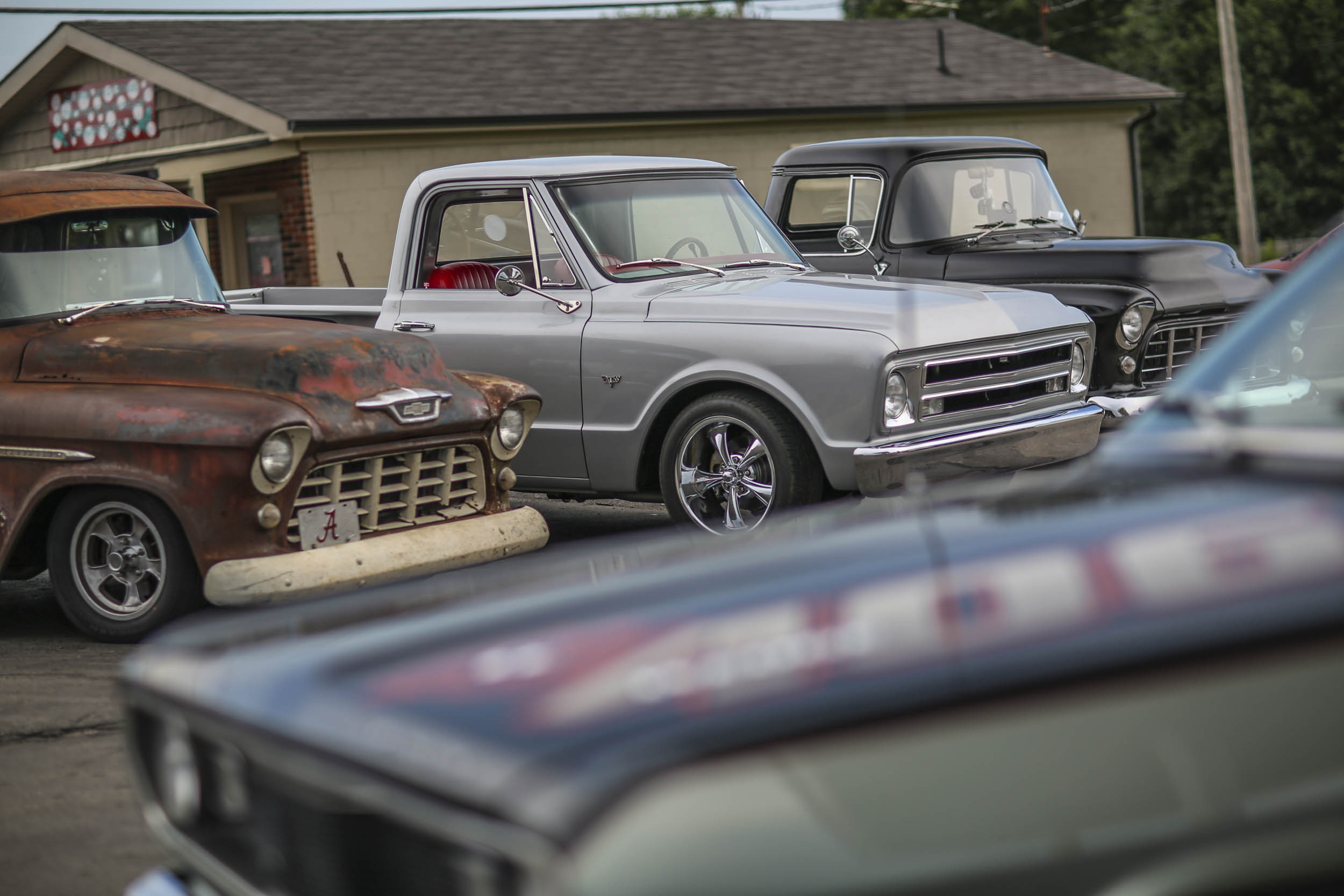 Any gas station can be a car show. This one just happened to be a truck show.