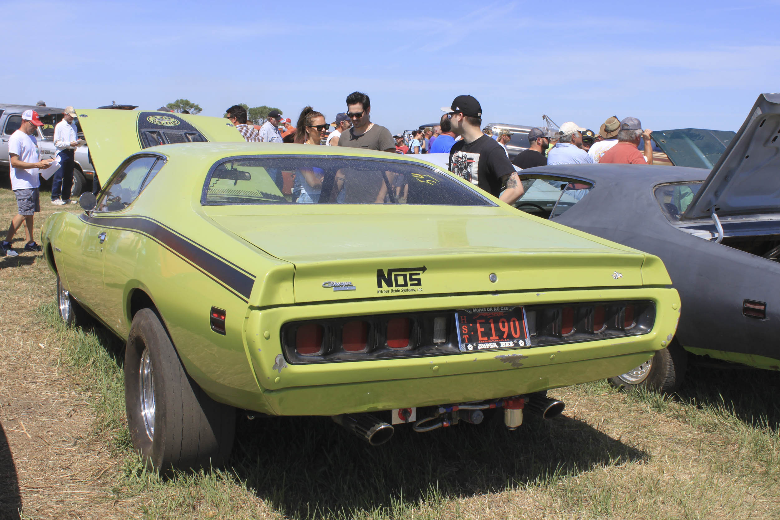 1970 Dodge Super Bee Green Rear