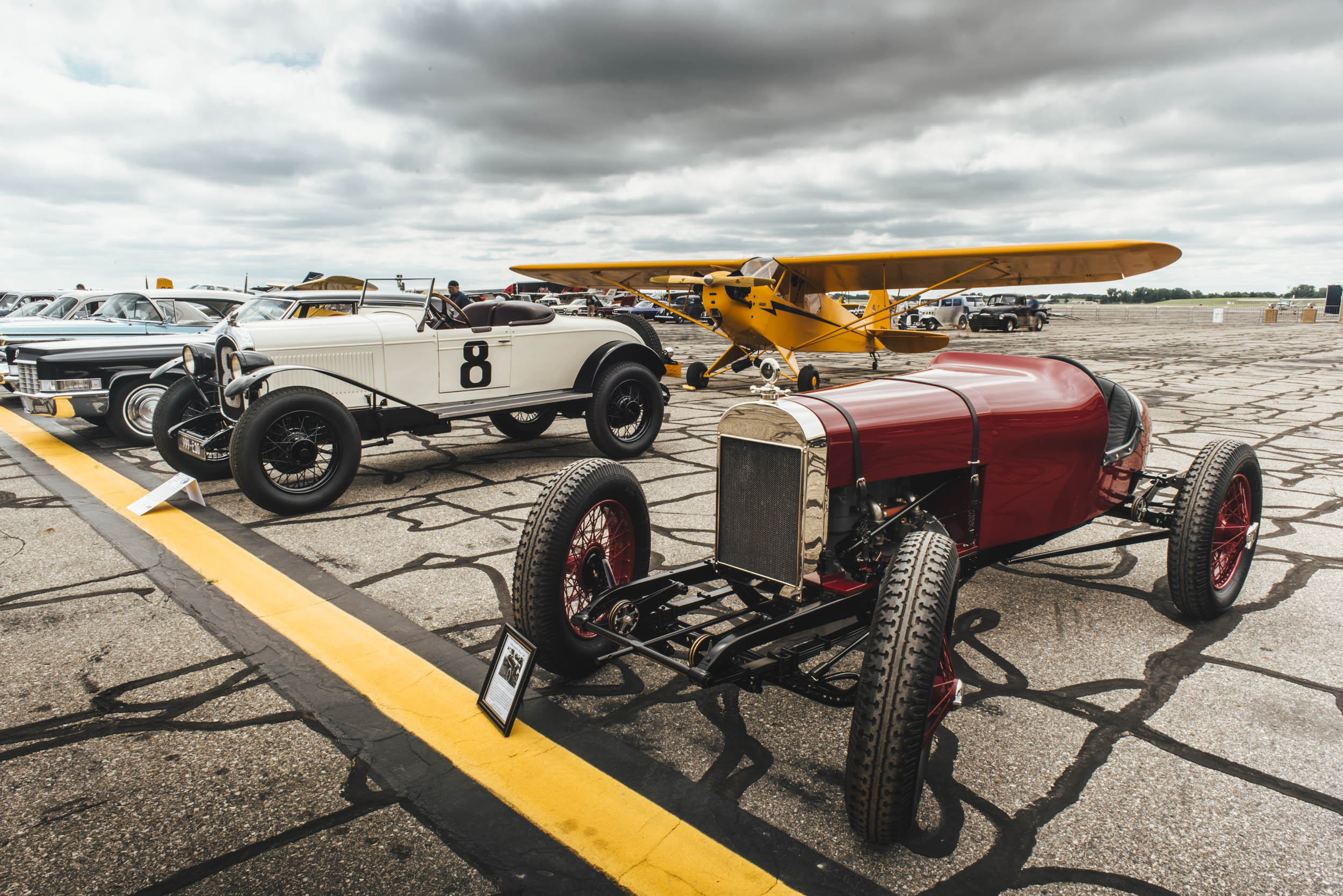 Wings and Wheels show at Willow Run Airport