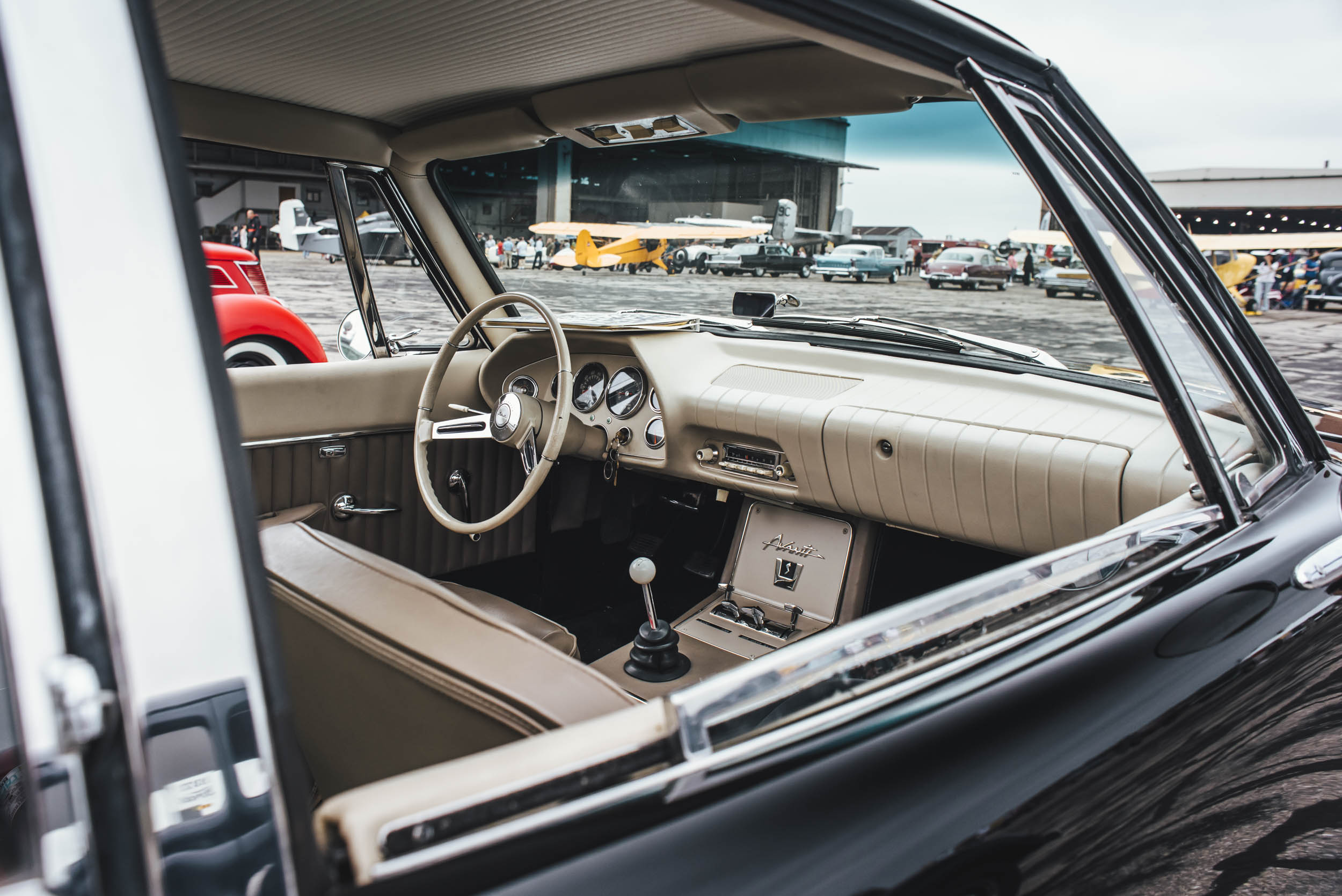 car interior from Wings and Wheels