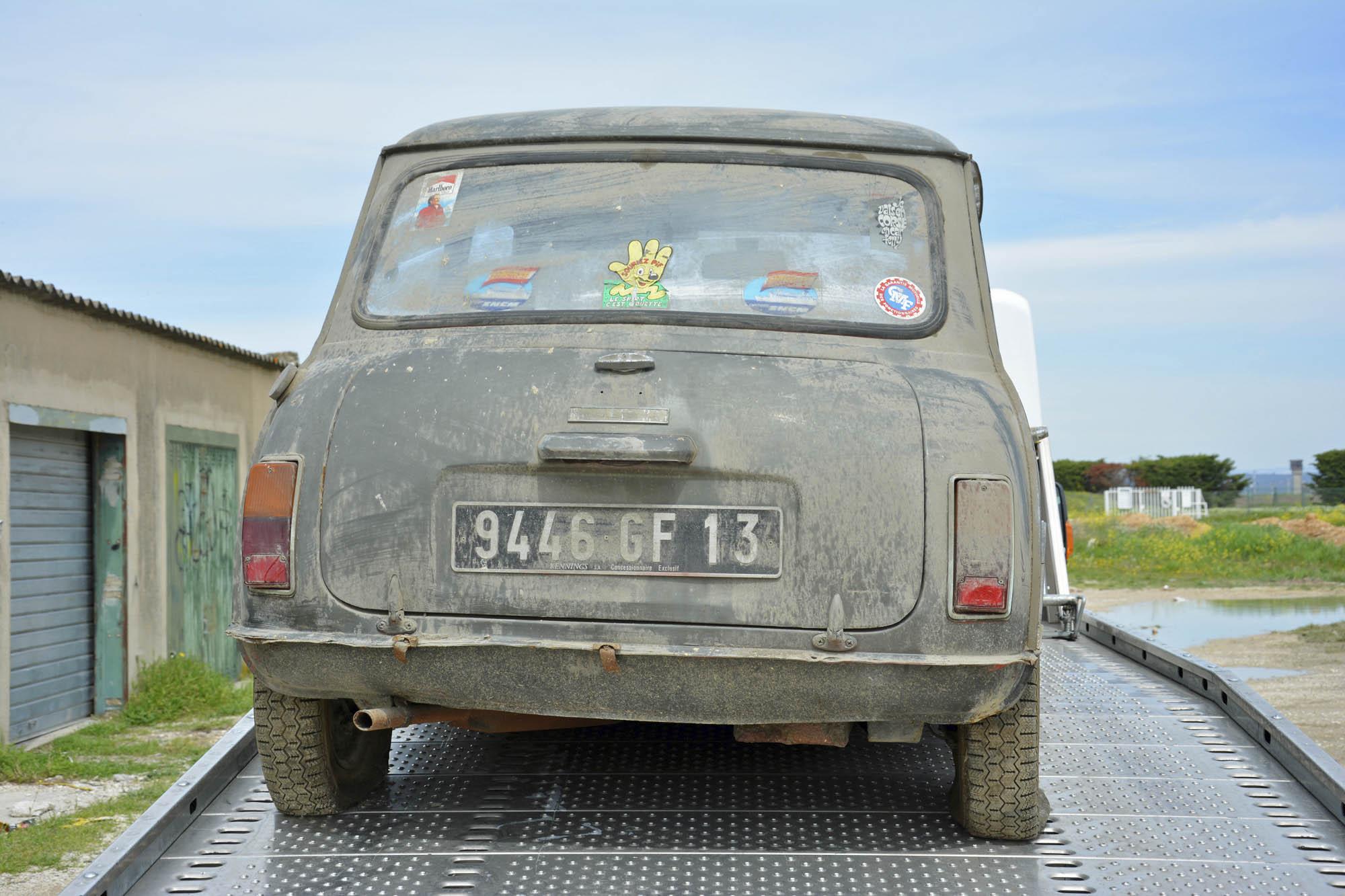 1972 Mini on flatbed