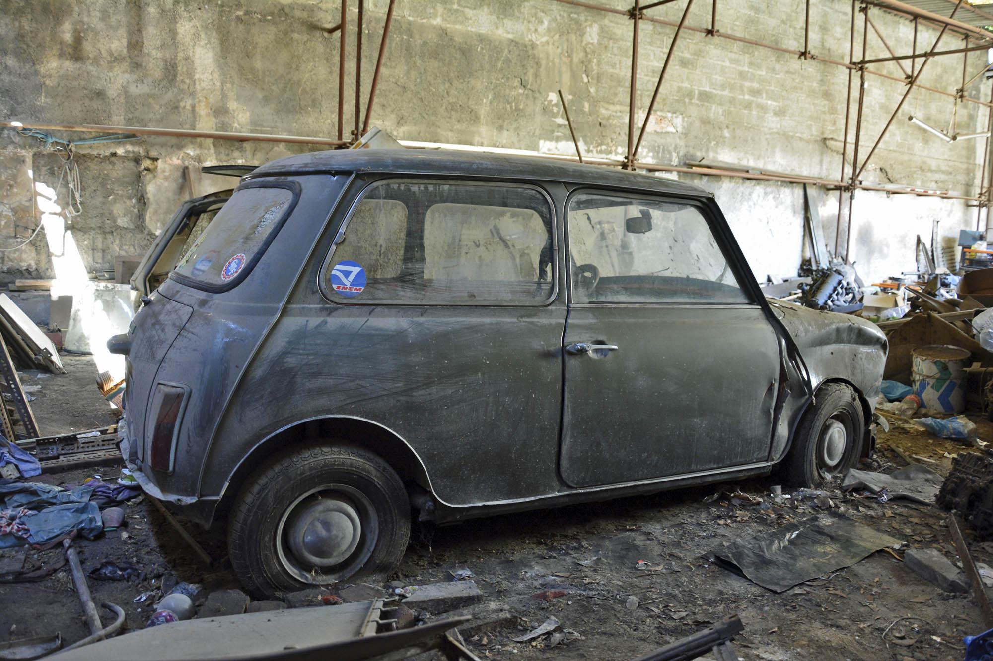 side of 1972 Mini