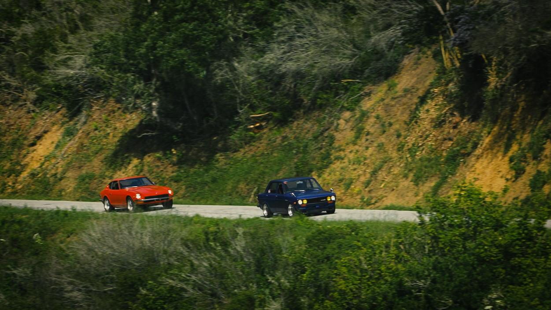 Datsuns driving