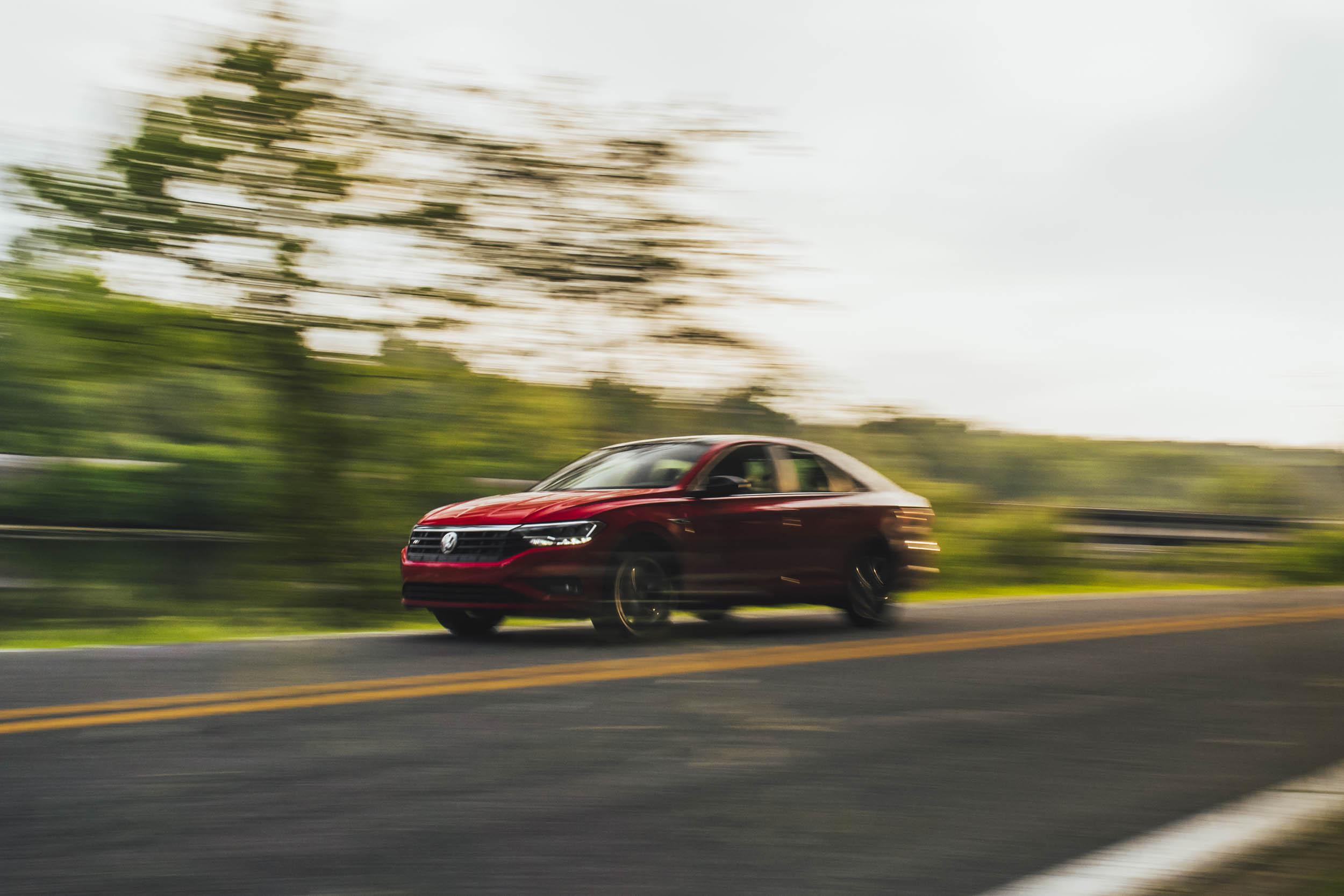 Volkswagen Jetta R-Line driving on road