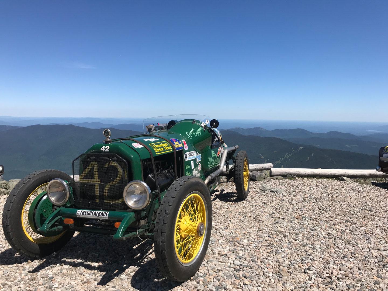 Green dragon on top of Mount Washington