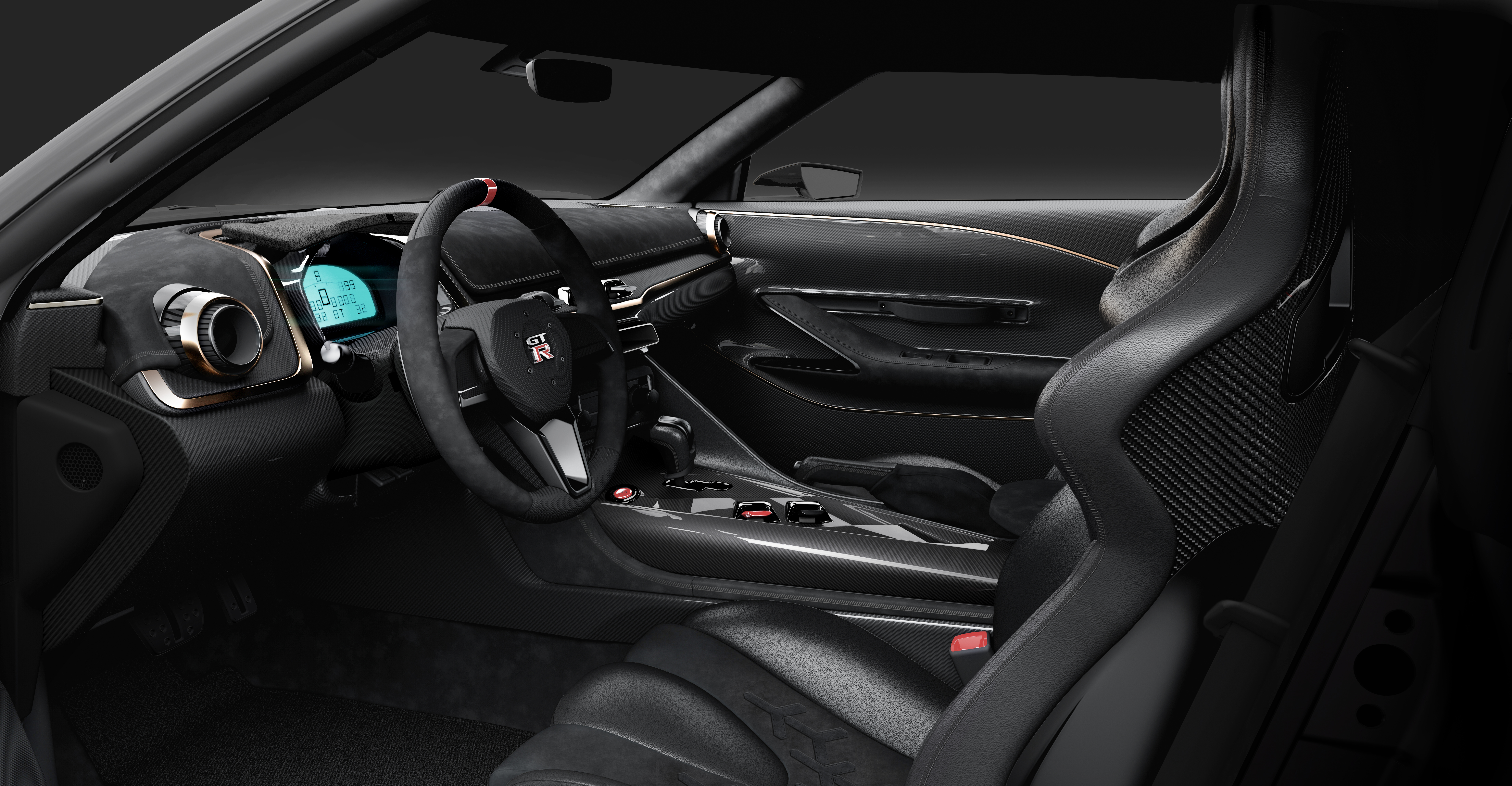 Nissan GT-R50 interior italdesign cockpit