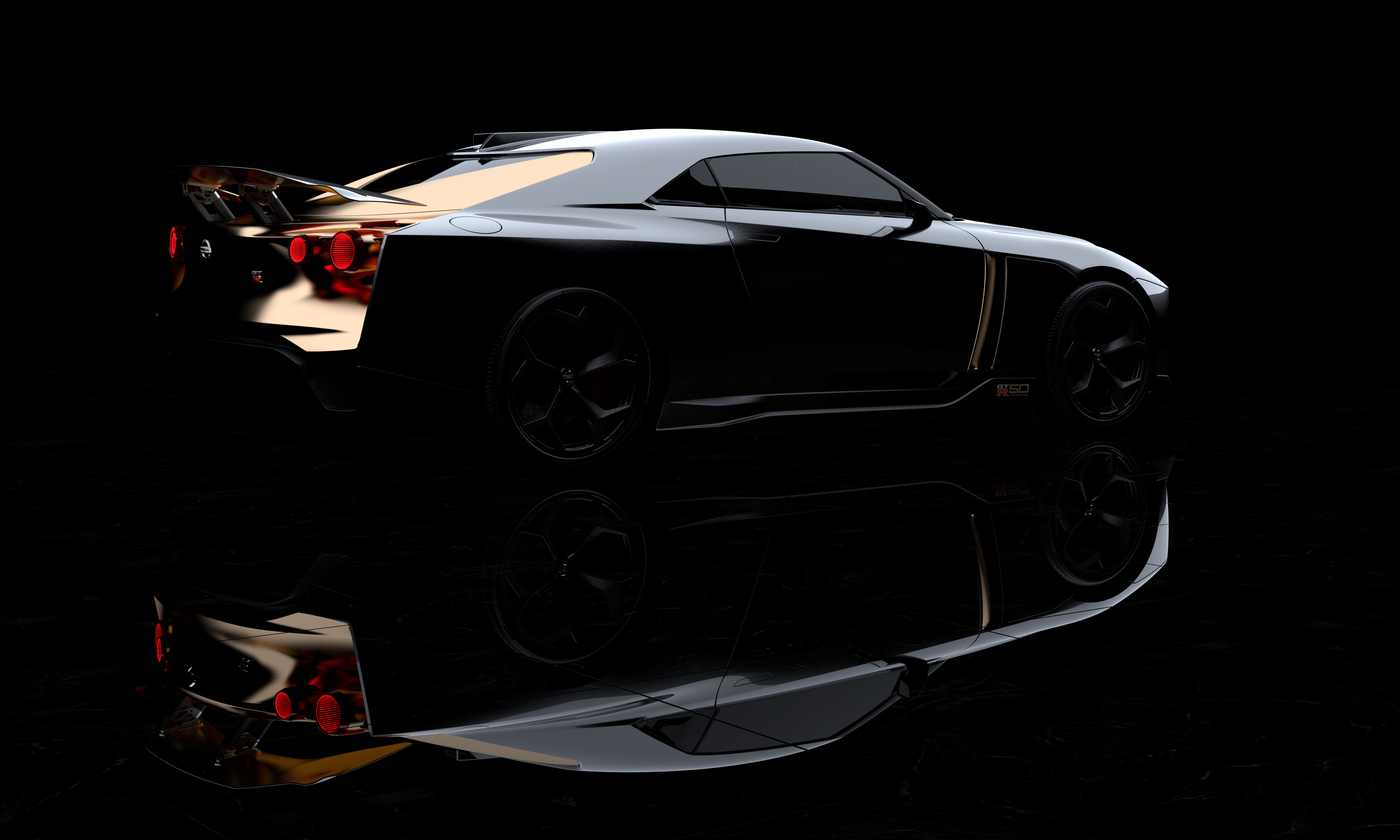 nissan gt-r50 concept side rear gt-r
