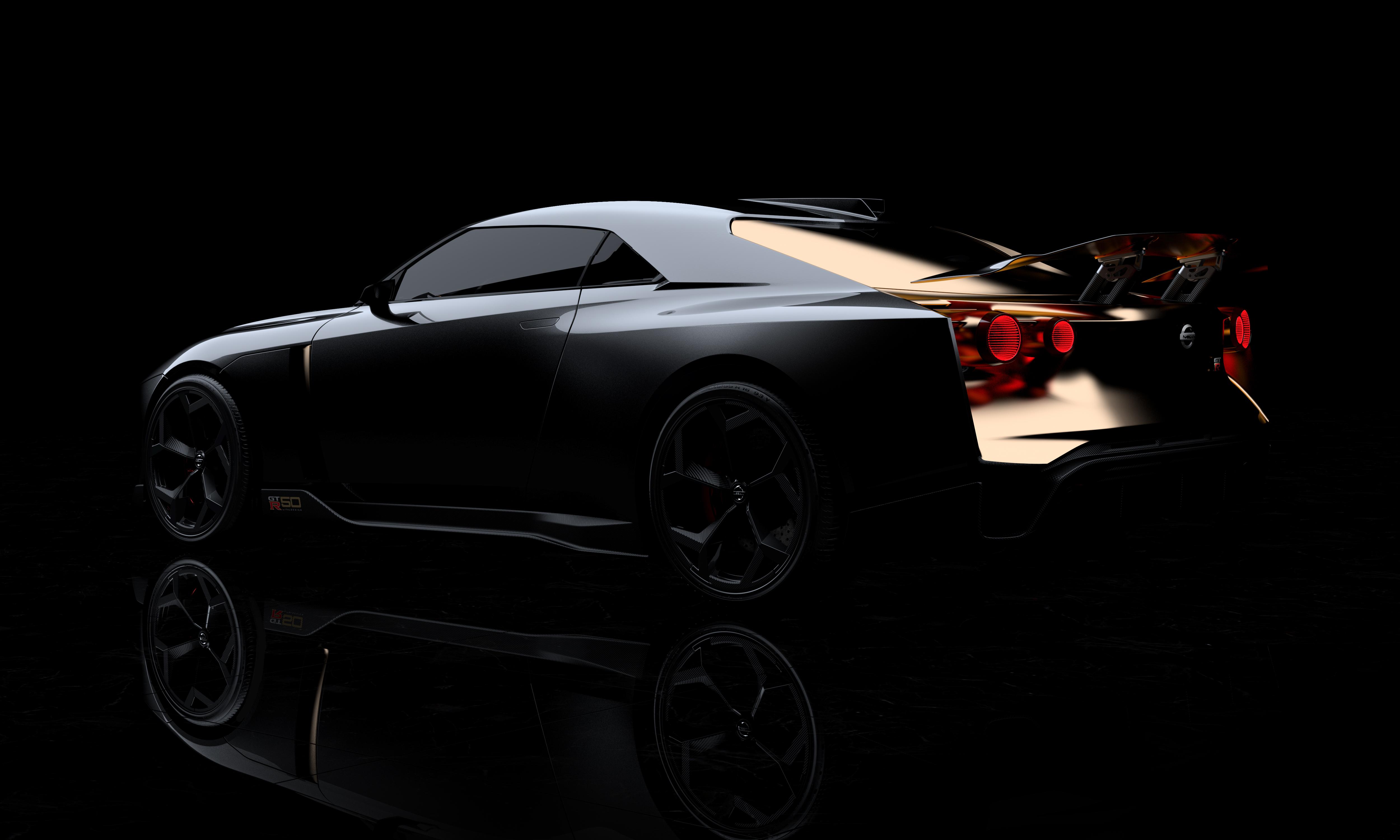 nissan gtr50 italdesign side rear gold gtr